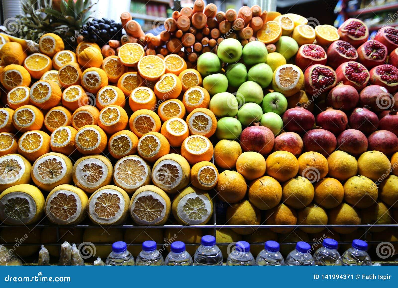 Owocowego soku sklep w Beyoglu Ä°stanbul