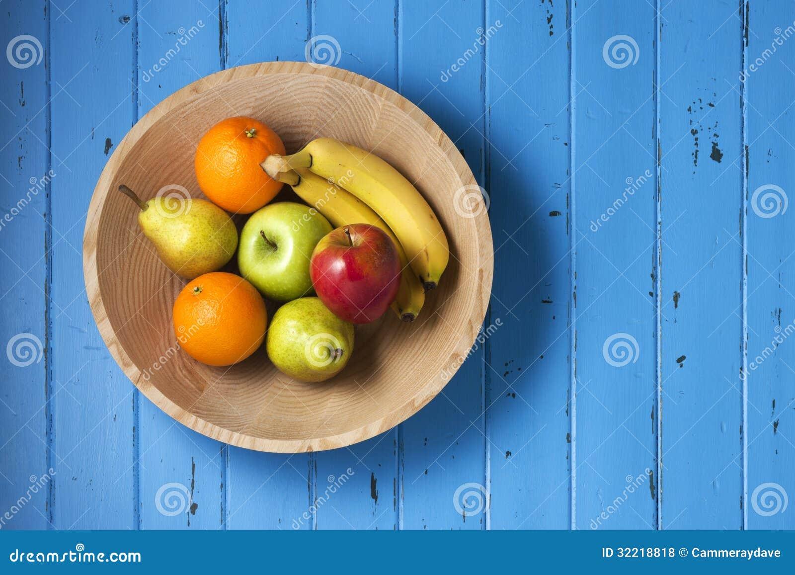 Owocowy Drewniany pucharu tło