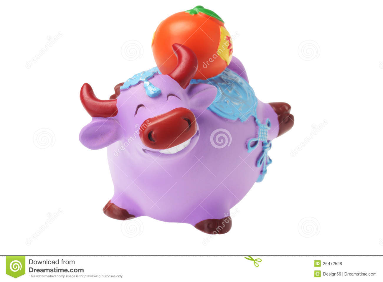Ox figurine chinese new year ornaments royalty free stock