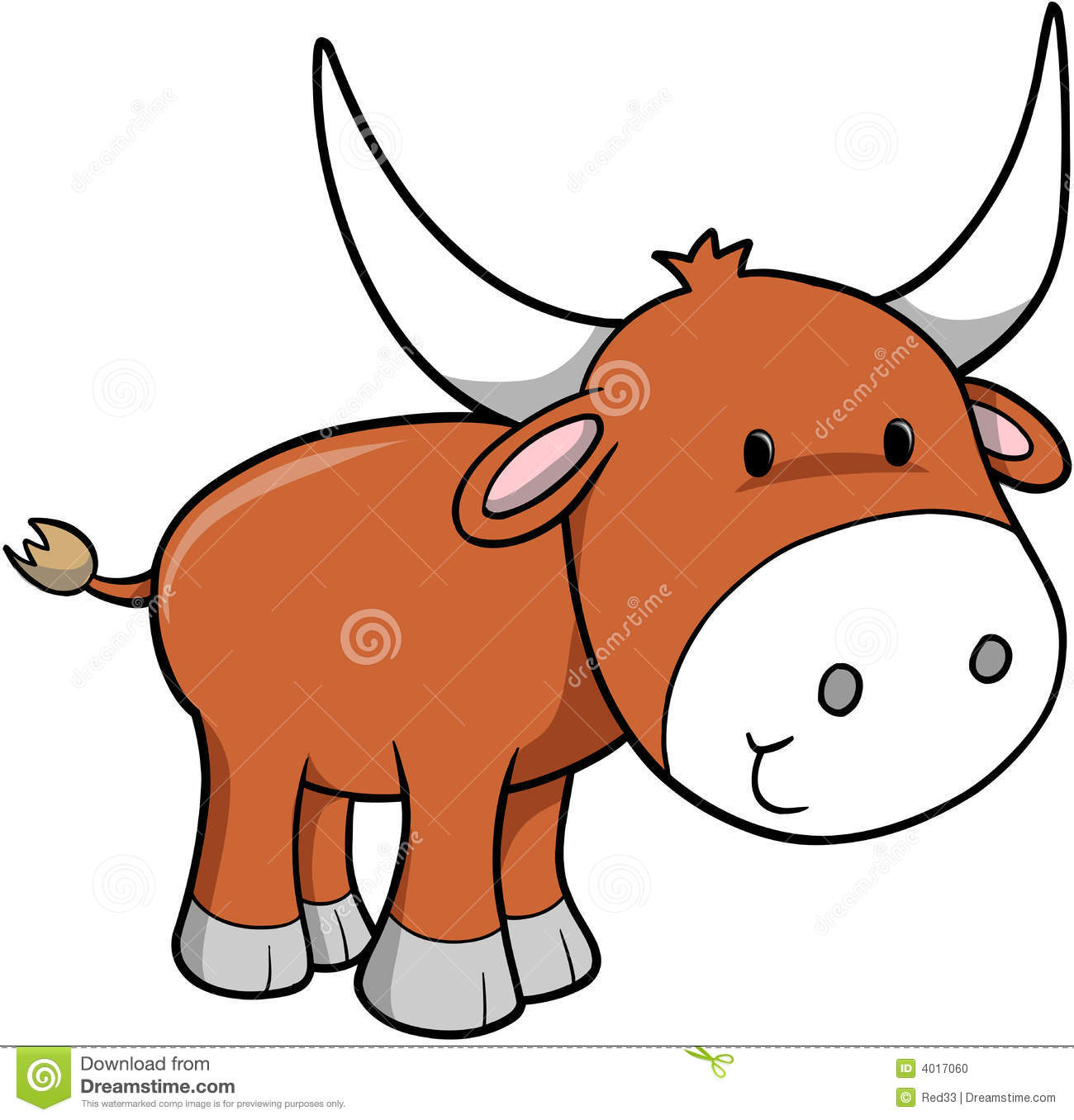Ox Vector Illustration Stock Photo - Image: 4017060