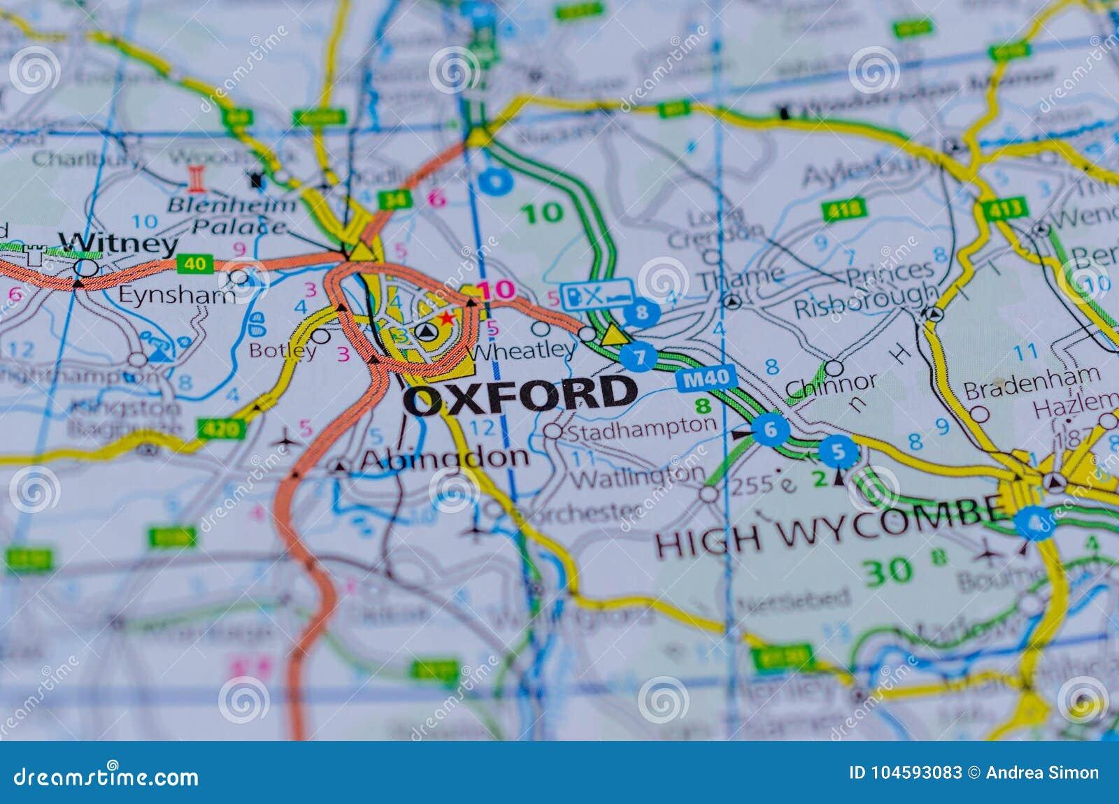 Oxford op kaart