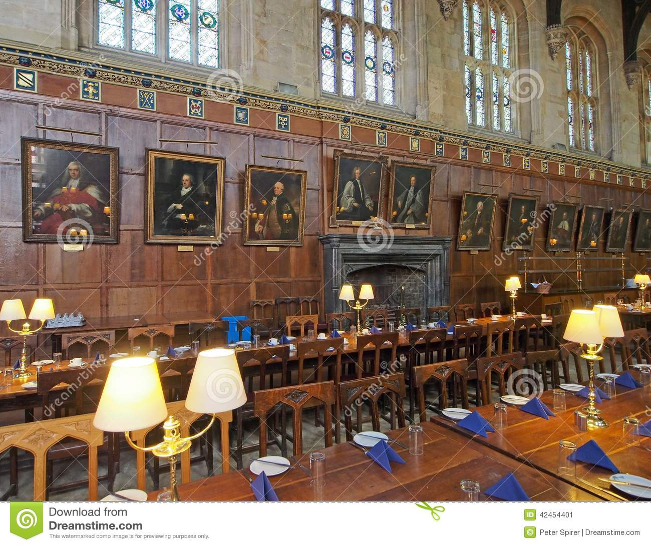 Oxford university college dining hall editorial photo for U of t dining hall