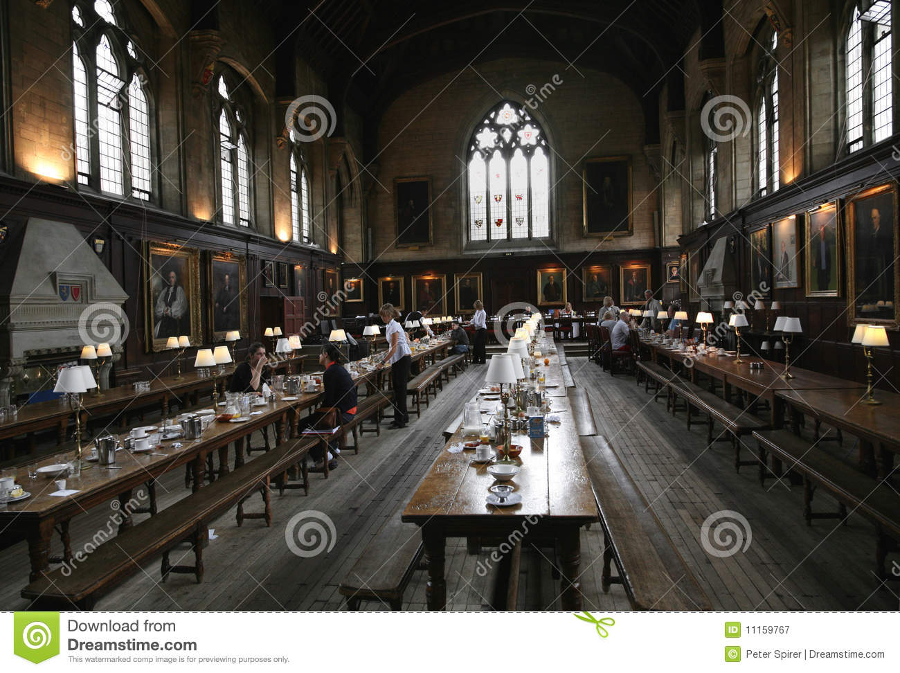 Oxford University Dining Hall Editorial Photography