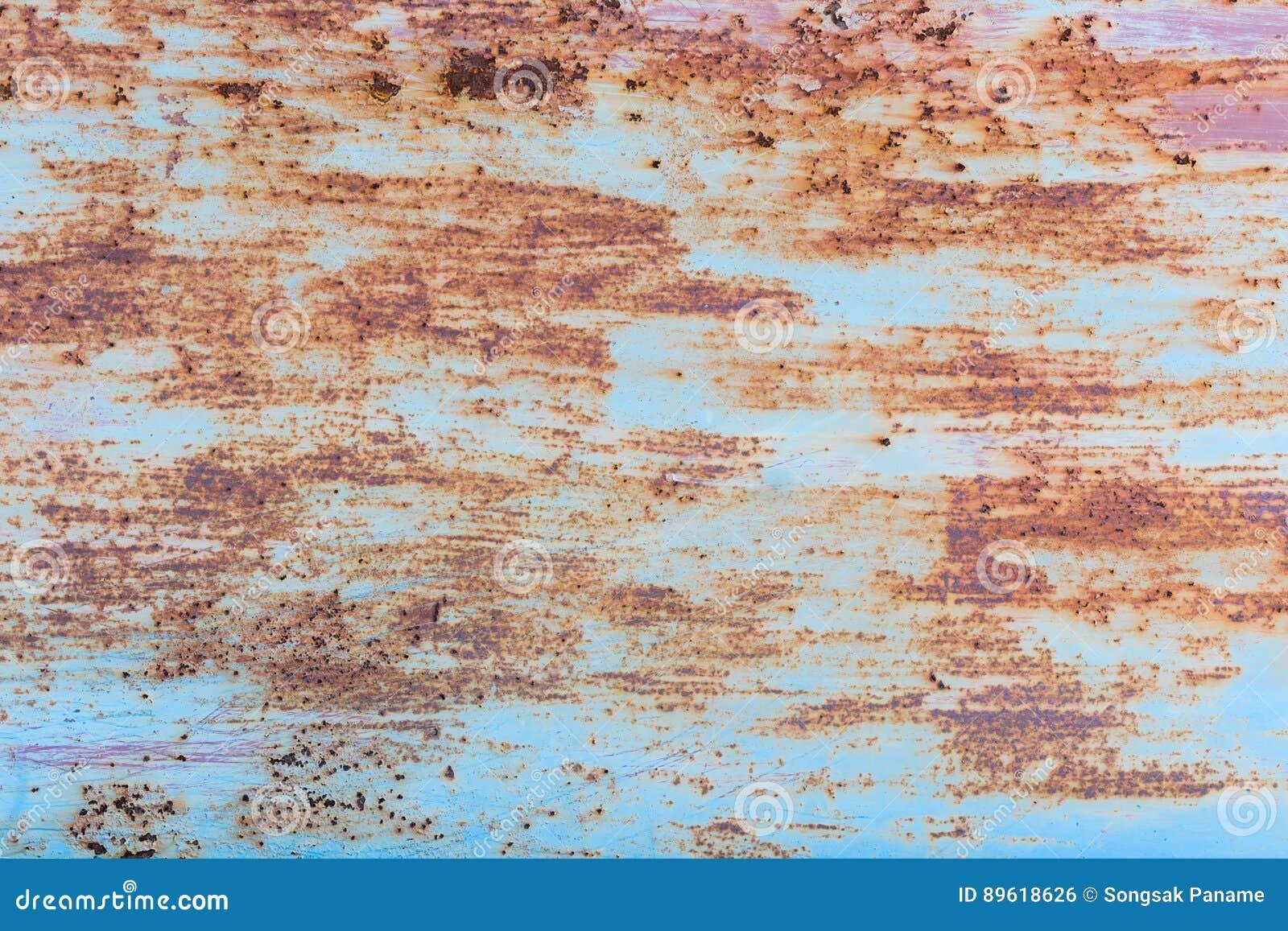 Oxidação do ferro com fundo da corrosão