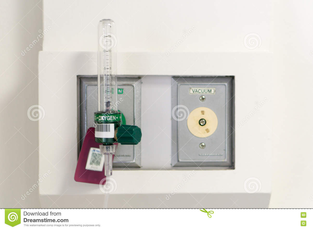 Oxygen Flow Meter Suply, Named Thorpe Tube Stock Photo - Image ...