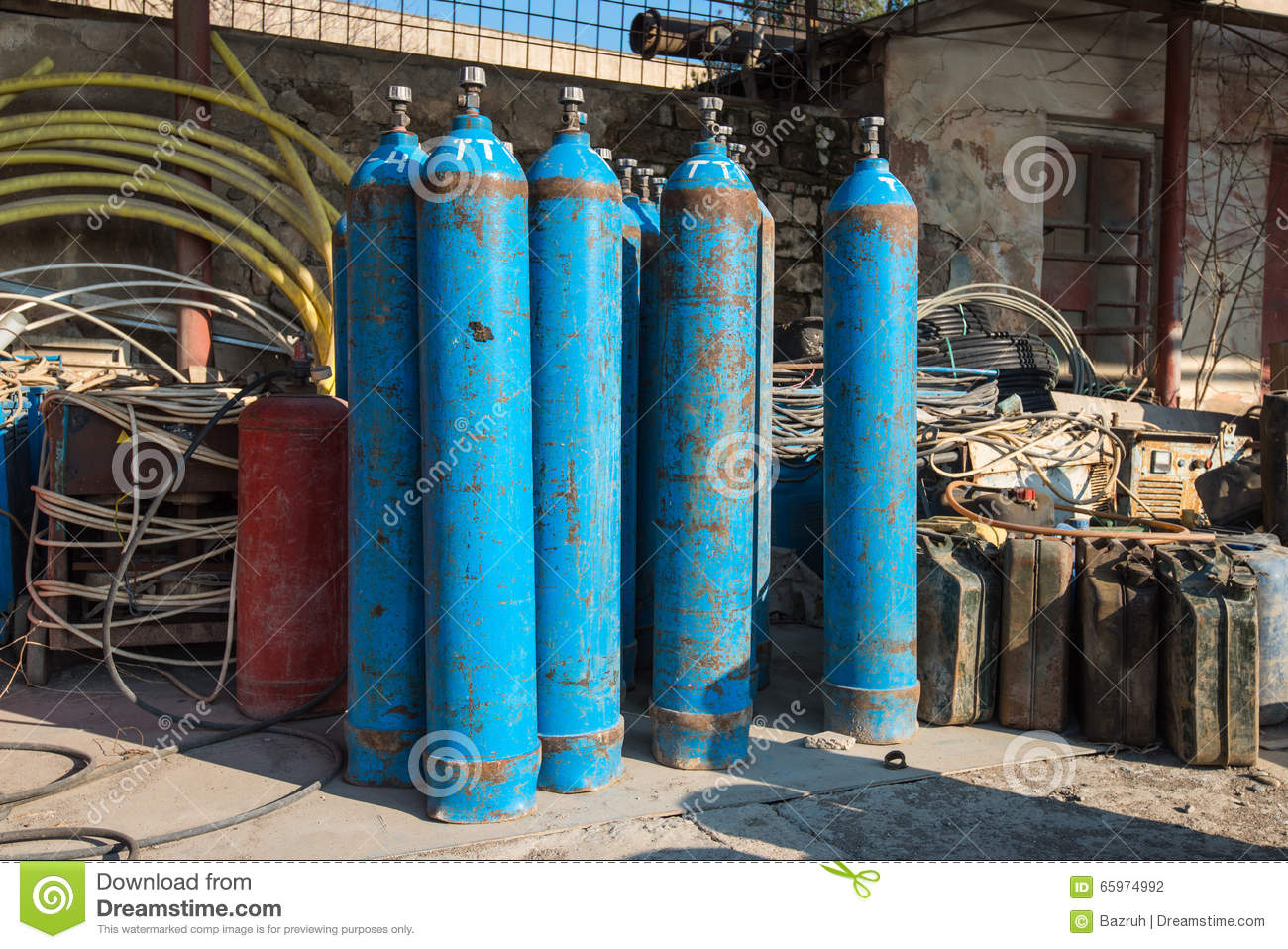Oxygen and Gas Cylinders stock photo  Image of equipment