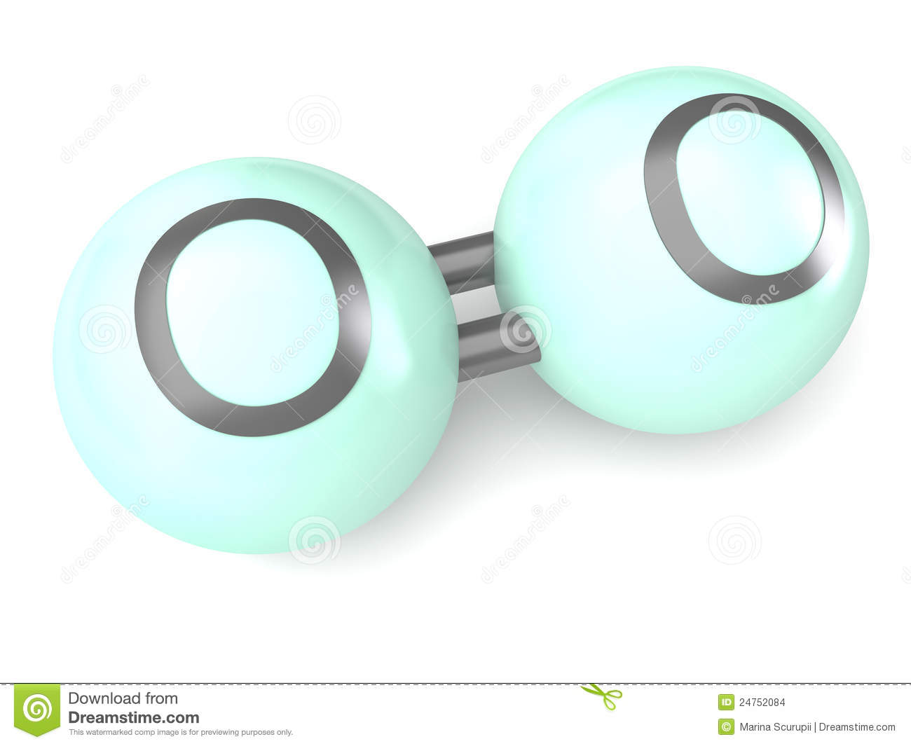 More similar stock images of ` Oxygen molecule 3d model `