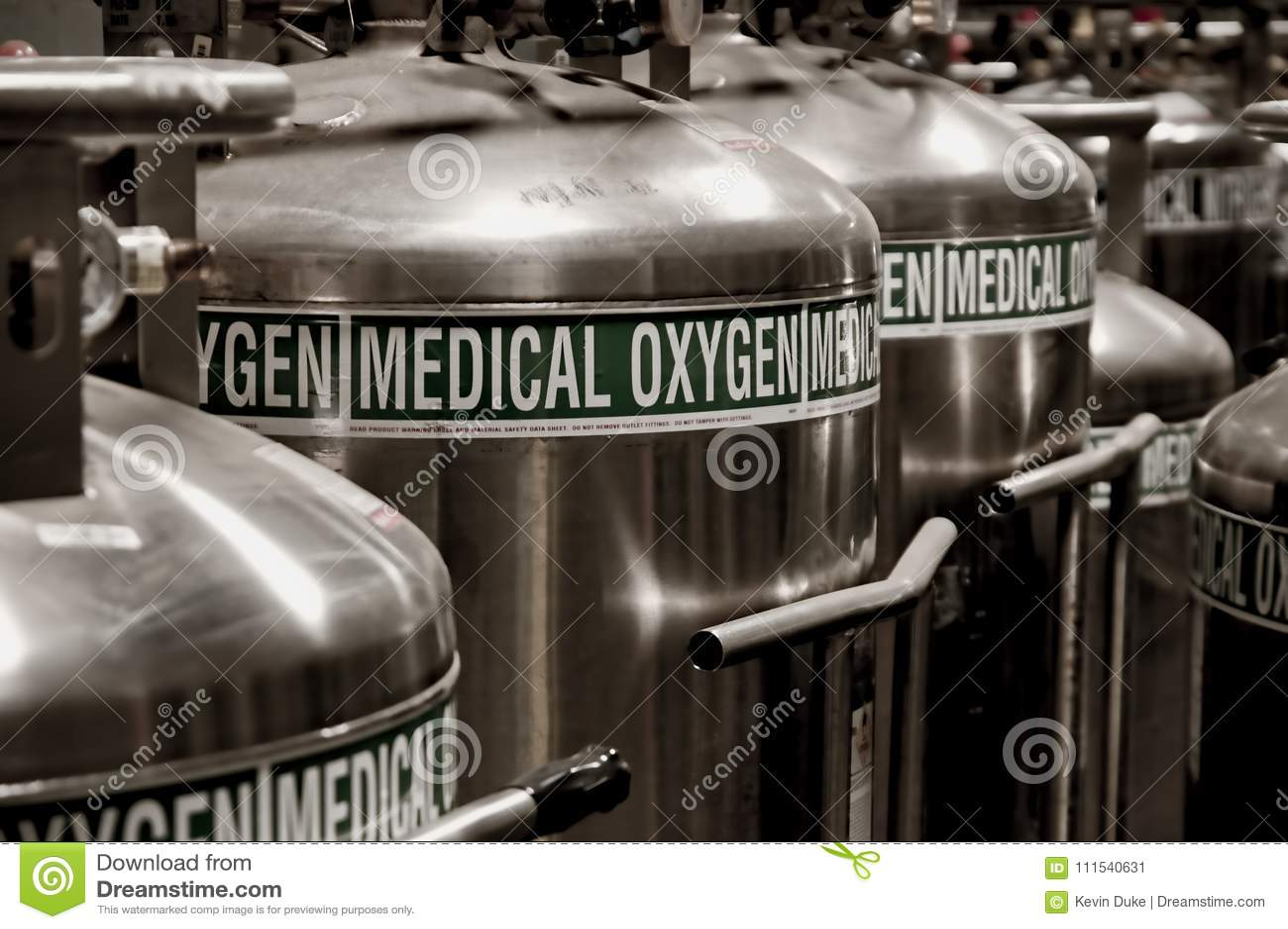 Oxygen Tanks stock image  Image of large, labels, label