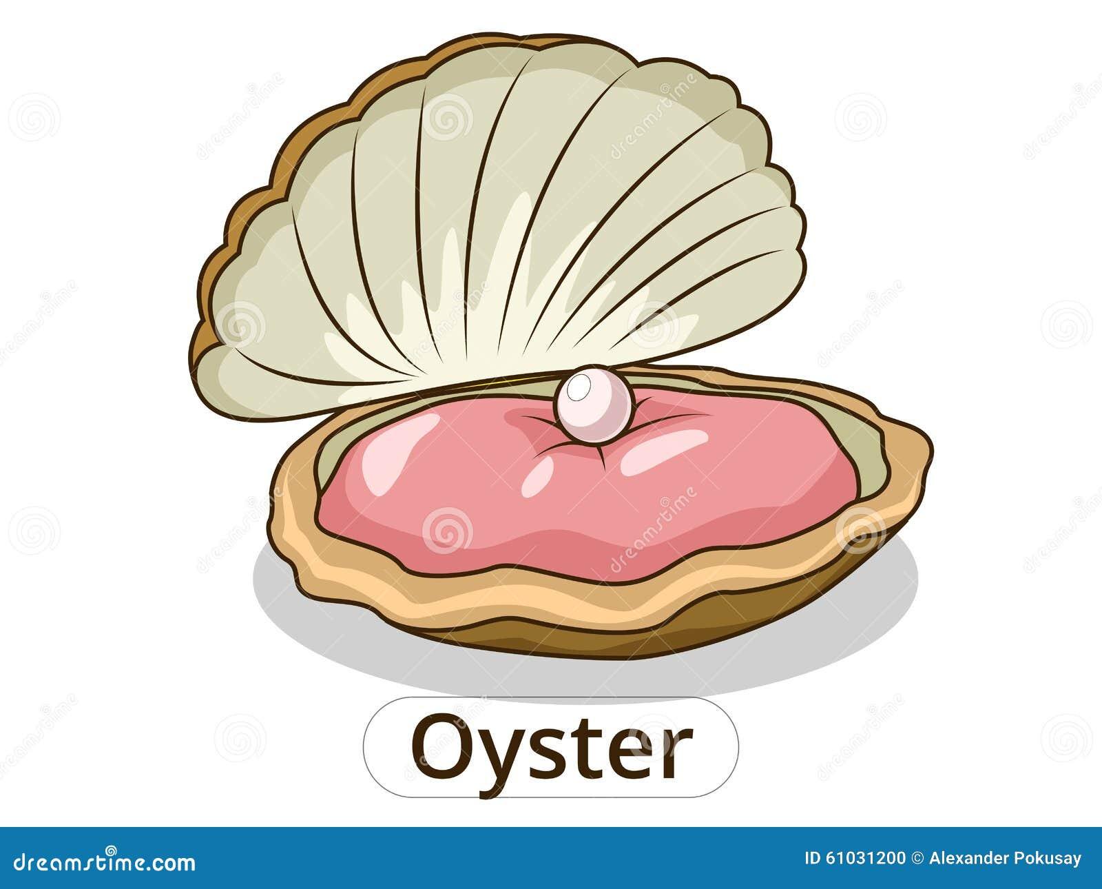 Oyster Underwater Animal Cartoon Illustration Stock Vector