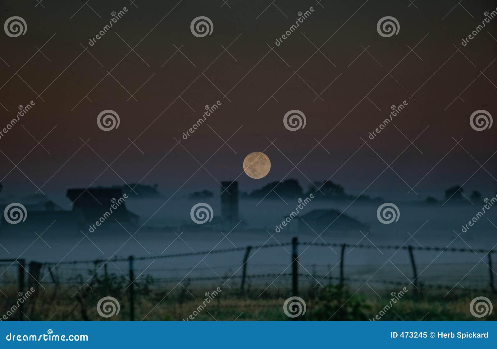 Download Ozarks Moonrise stock image. Image of fields, missouri - 473245