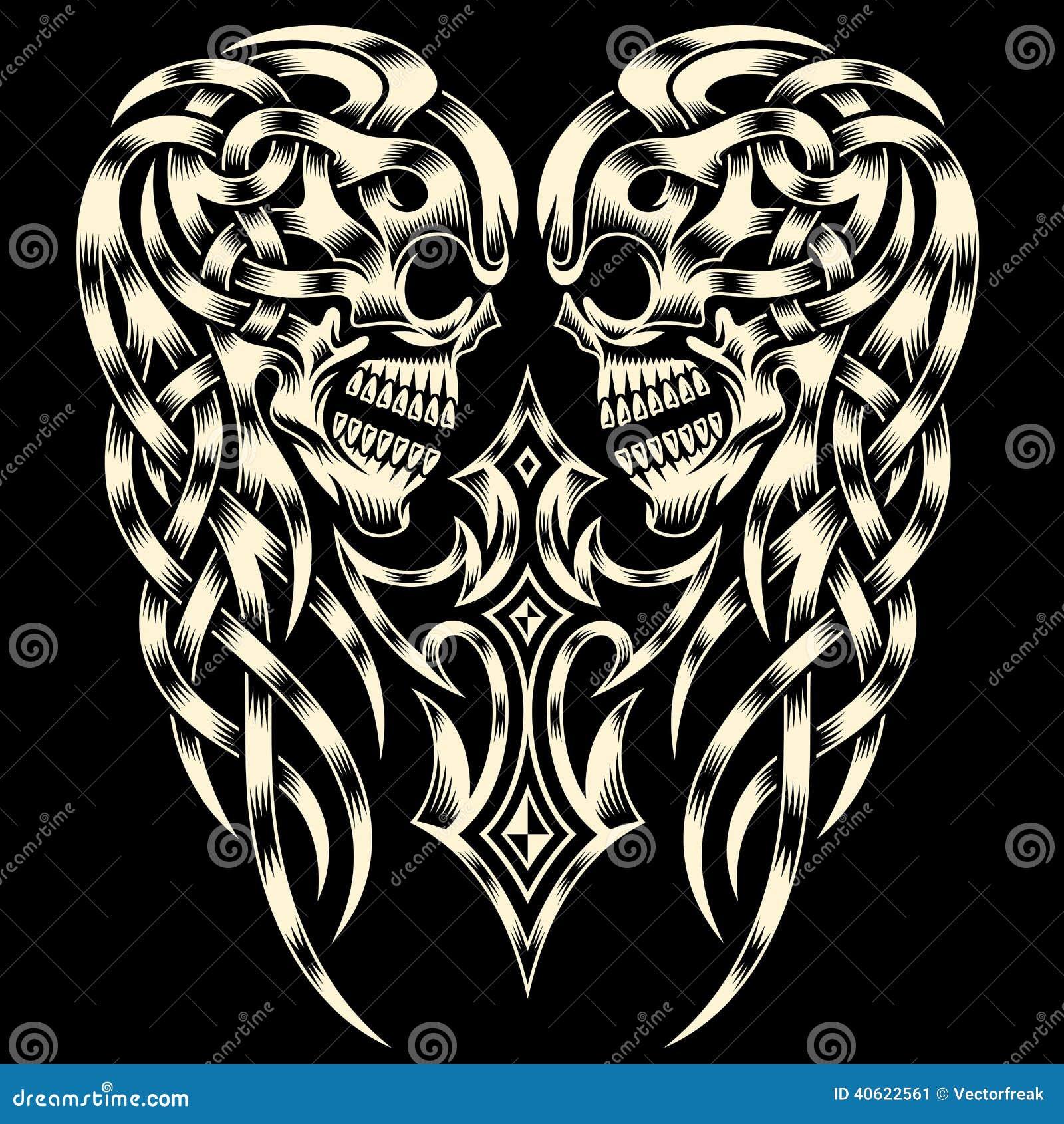 Ozdobna czaszka Z krzyżem