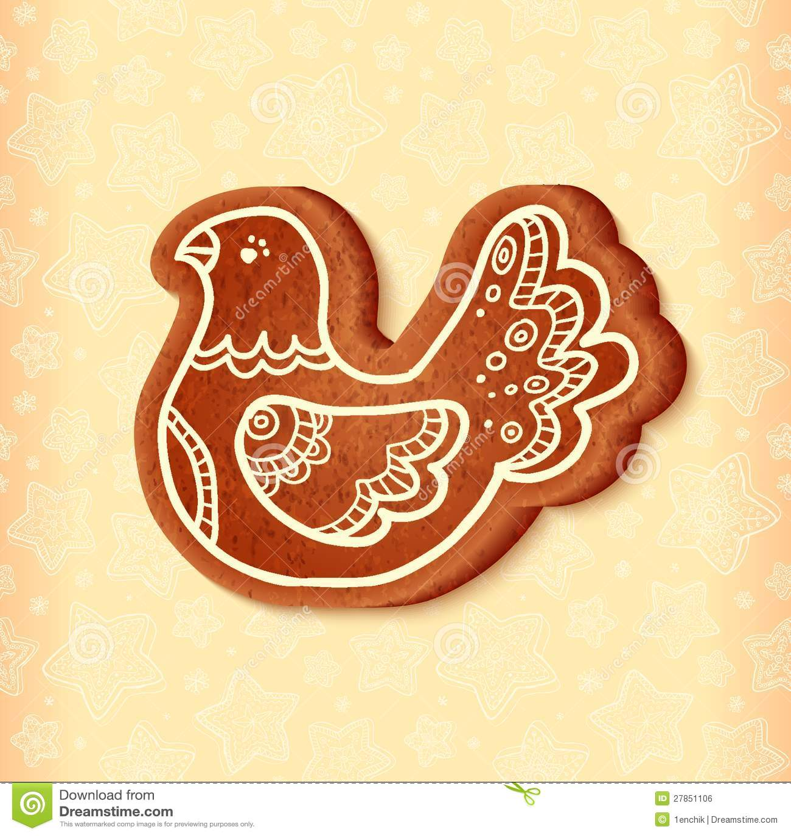 Ozdobny wektorowy tradycyjny bożych narodzeń cukierki ptak