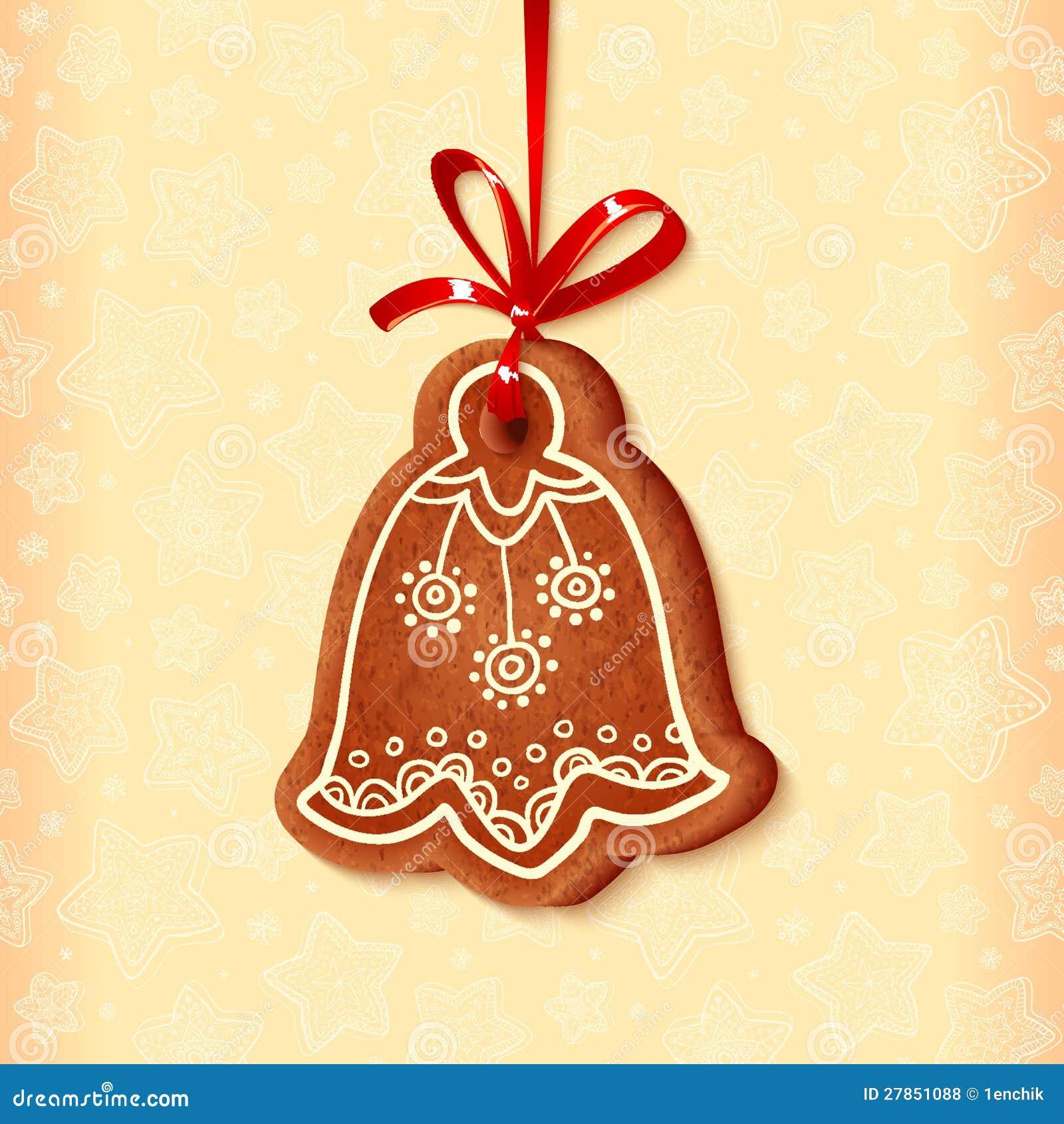 Ozdobnych wektorowych tradycyjnych bożych narodzeń słodki dzwon