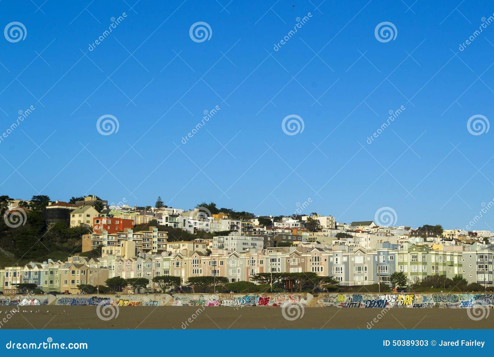 Ozean-Strand-Häuser