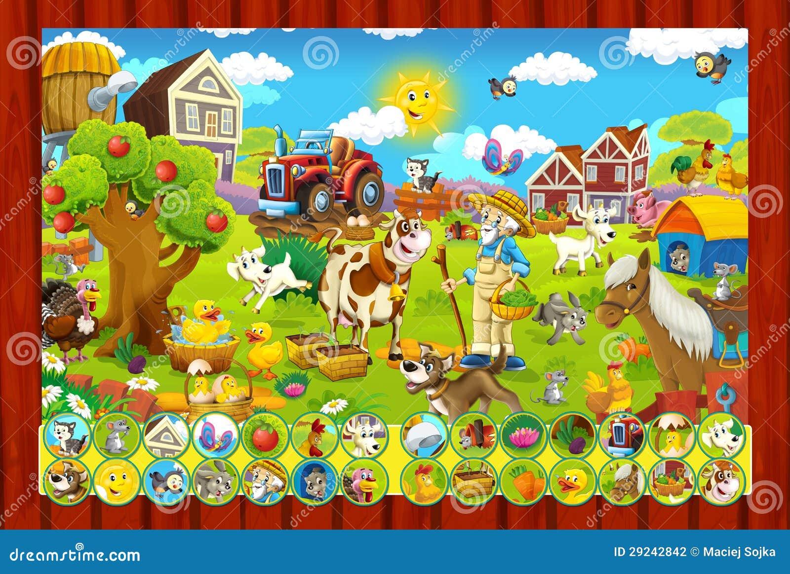 Download A Página Com Exercícios Para Crianças - Exploração Agrícola - Ilustração Para As Crianças Ilustração Stock - Ilustração de resposta, beira: 29242842