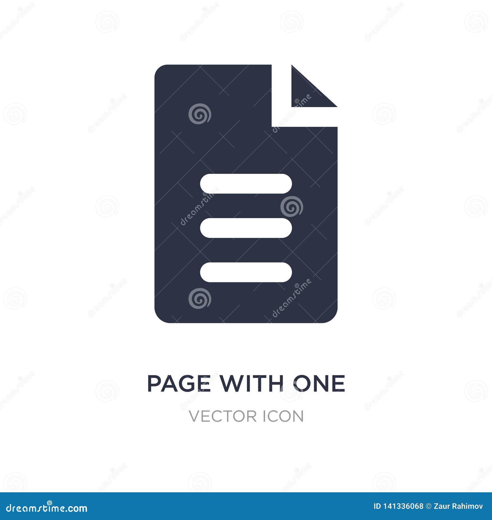 A página com uma ondulou o ícone de canto no fundo branco Ilustração simples do elemento do conceito de UI