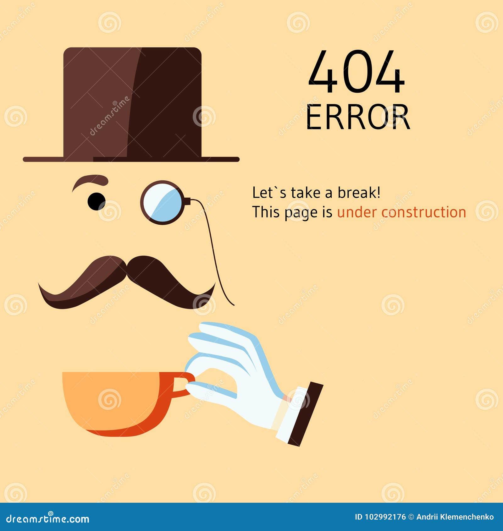 Página Con El Error 404 En Estilo De La Broma De La Historieta La ...