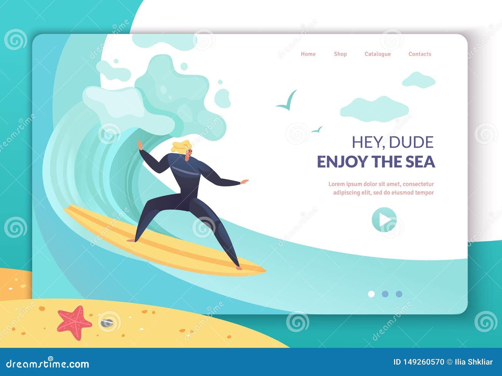 Página da aterrissagem das férias de verão