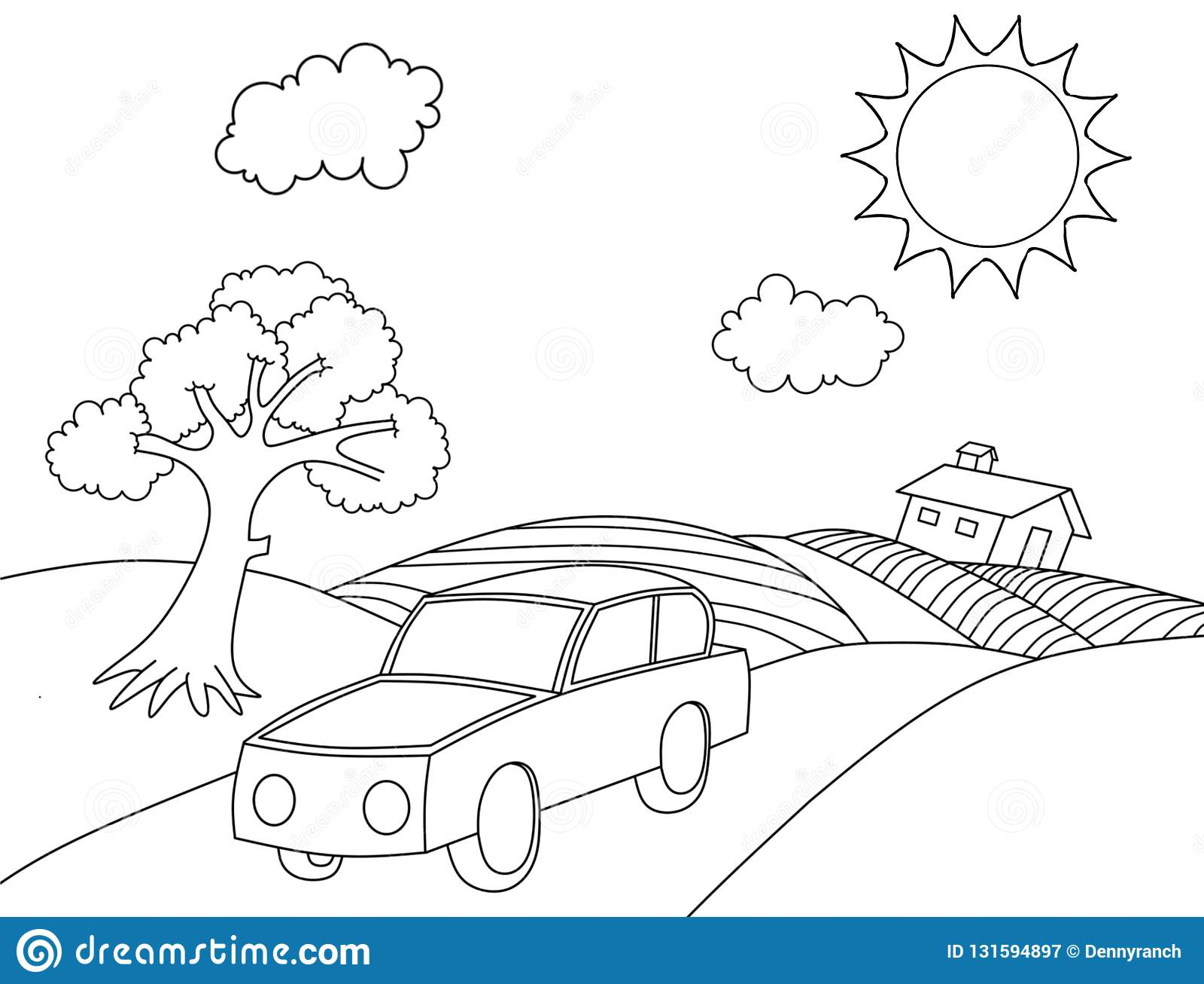 Pagina Da Coloracao Dos Desenhos Animados Do Livro Para Colorir Da