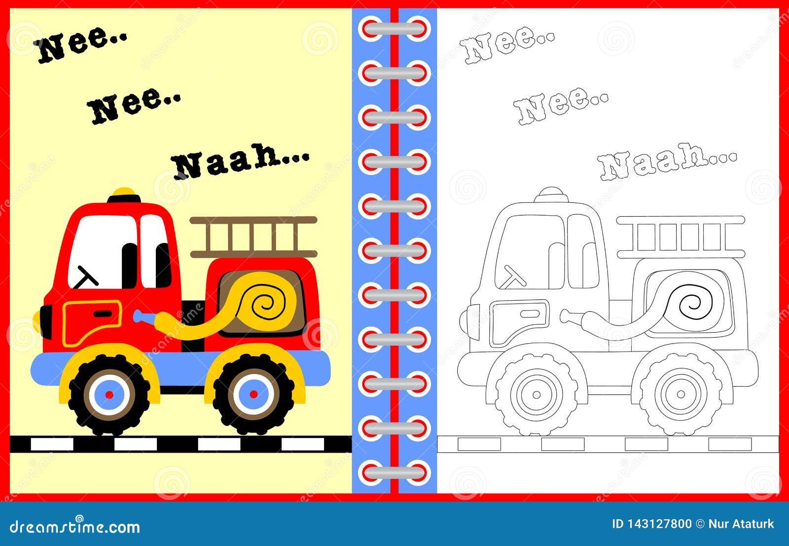 Pagina Da Ilustracao Colorir Dos Desenhos Animados Do Vetor Do