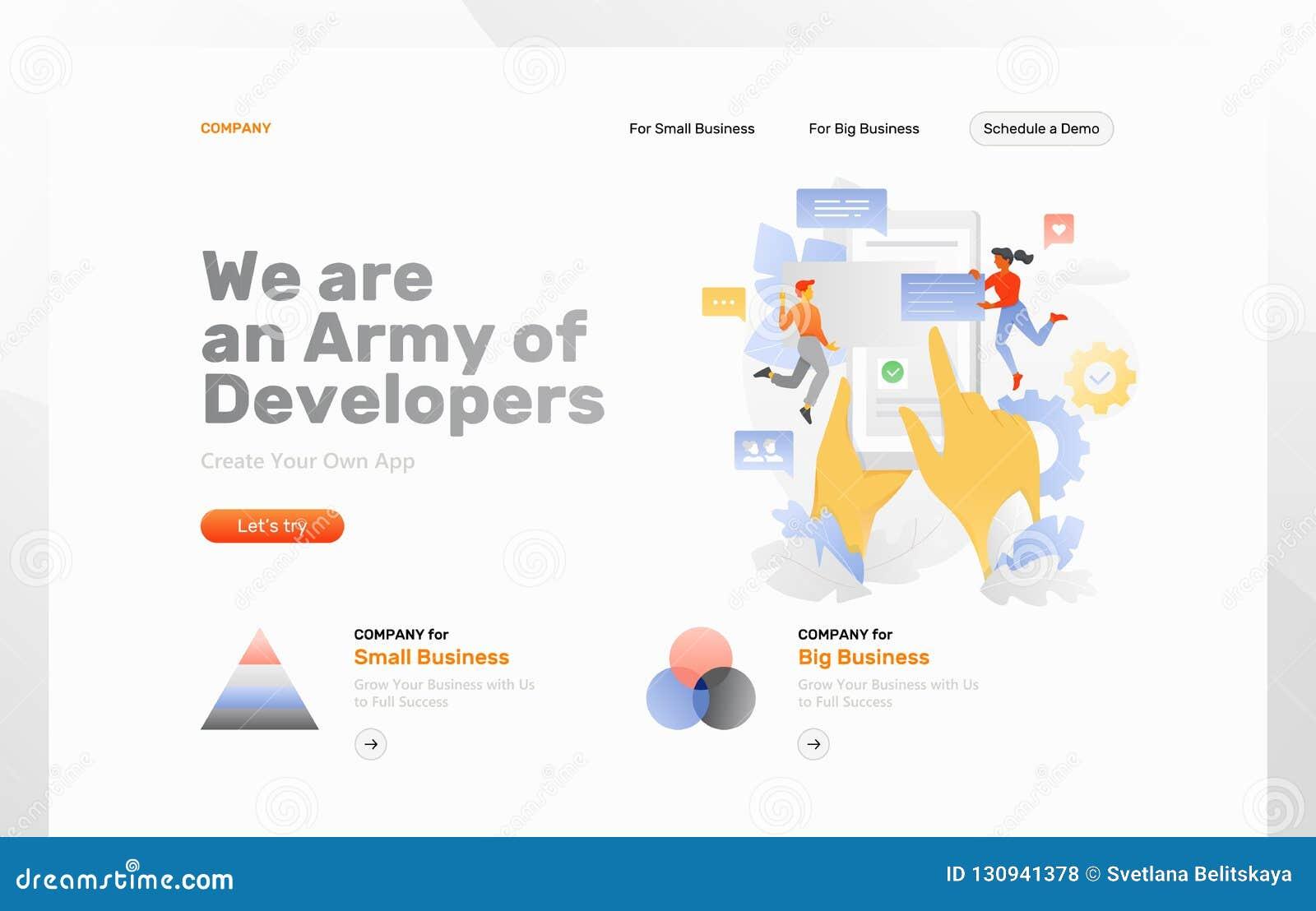 Página da web do desenvolvimento do App