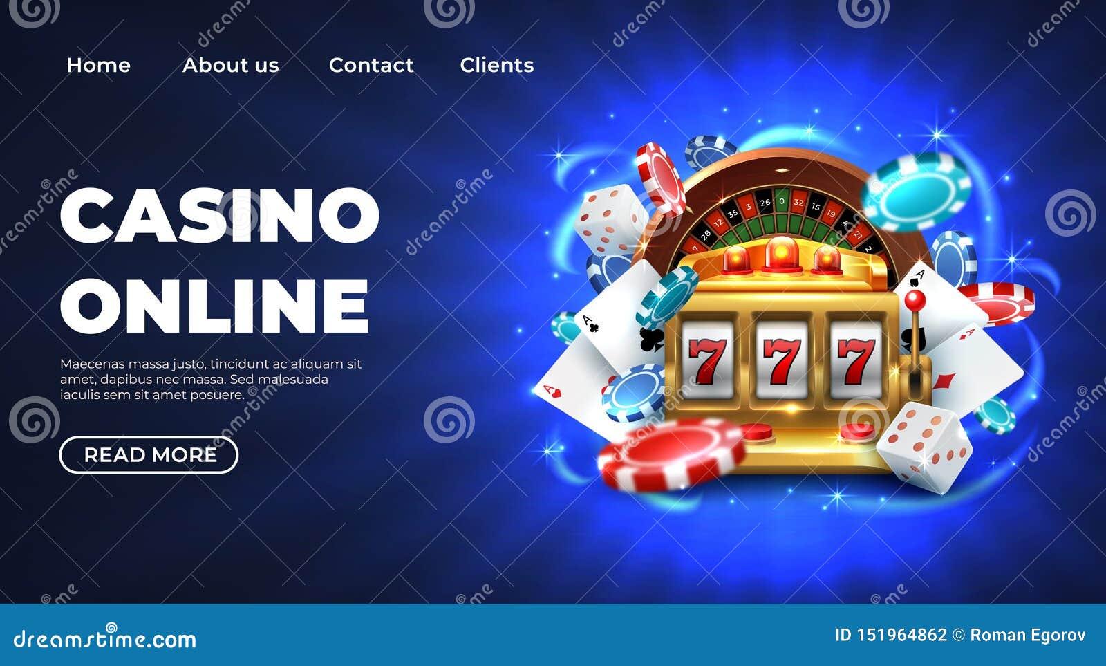 Página de aterrissagem do casino Prêmio afortunado grande de jogo do Web site da roleta, slot machine realístico da ilustração 77