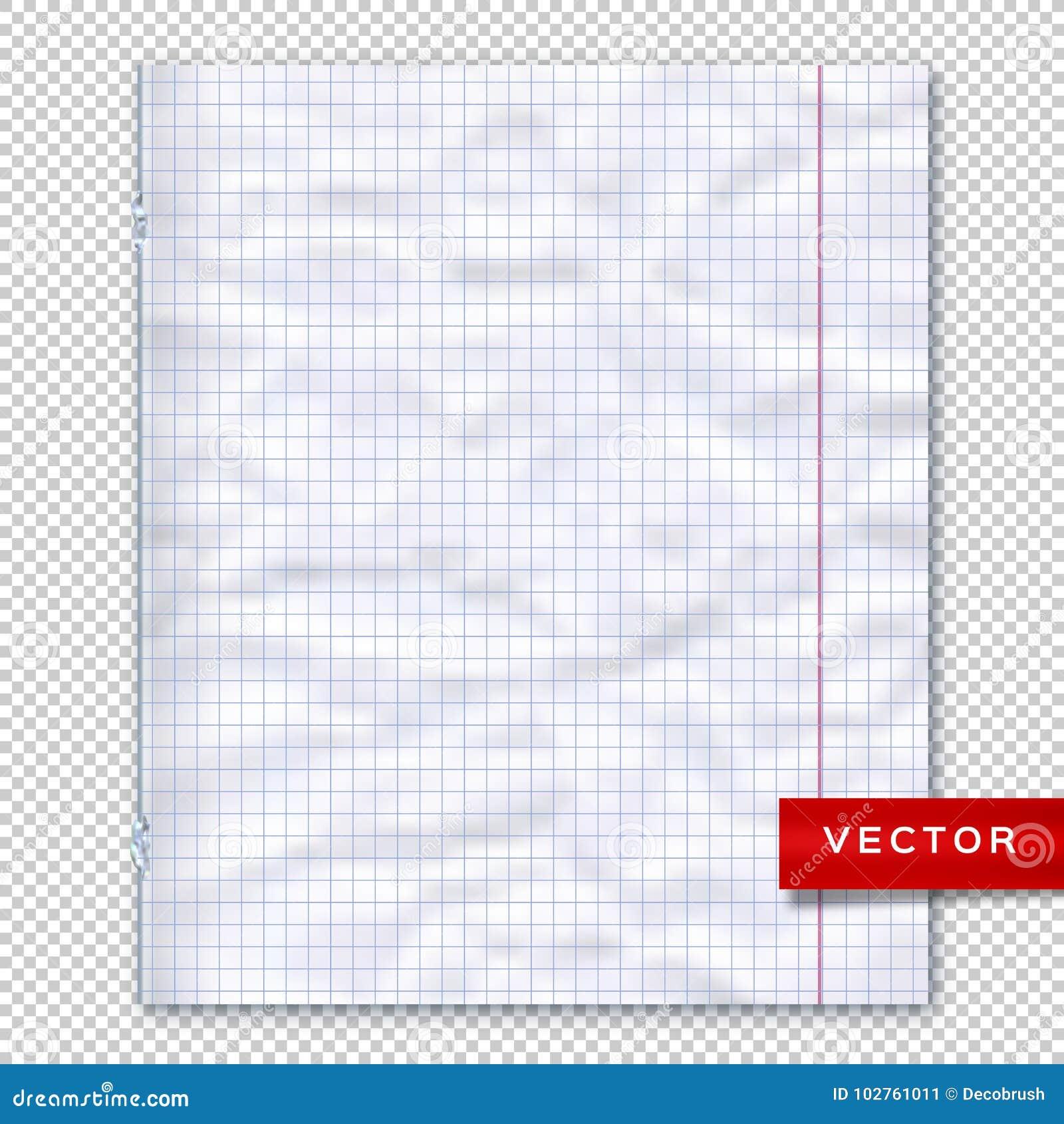 Página Del Cuaderno, Fondo Transparente De Papel Alineado Plantilla ...