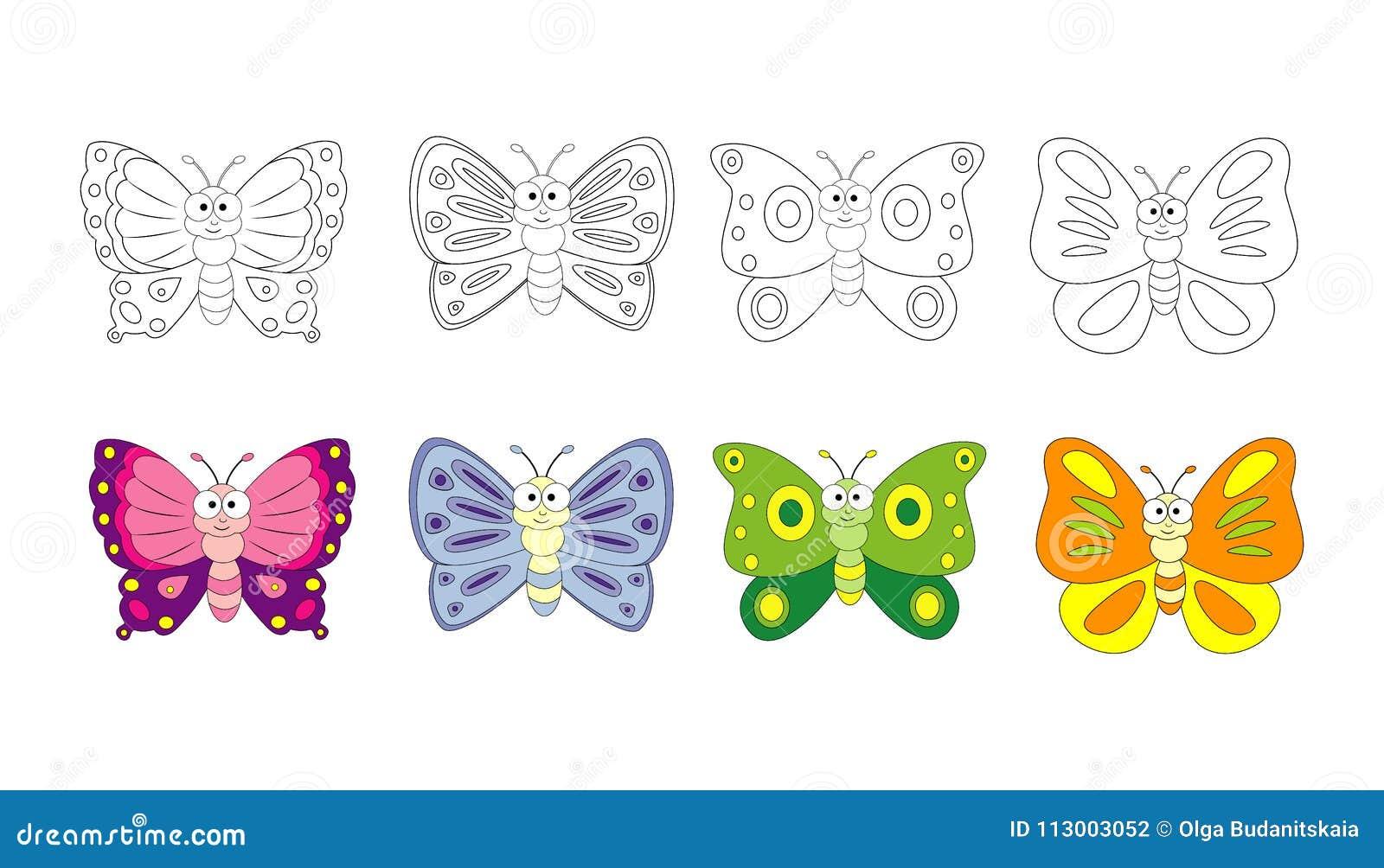 Página Del Libro De Colorear Para Los Niños Preescolares Con El