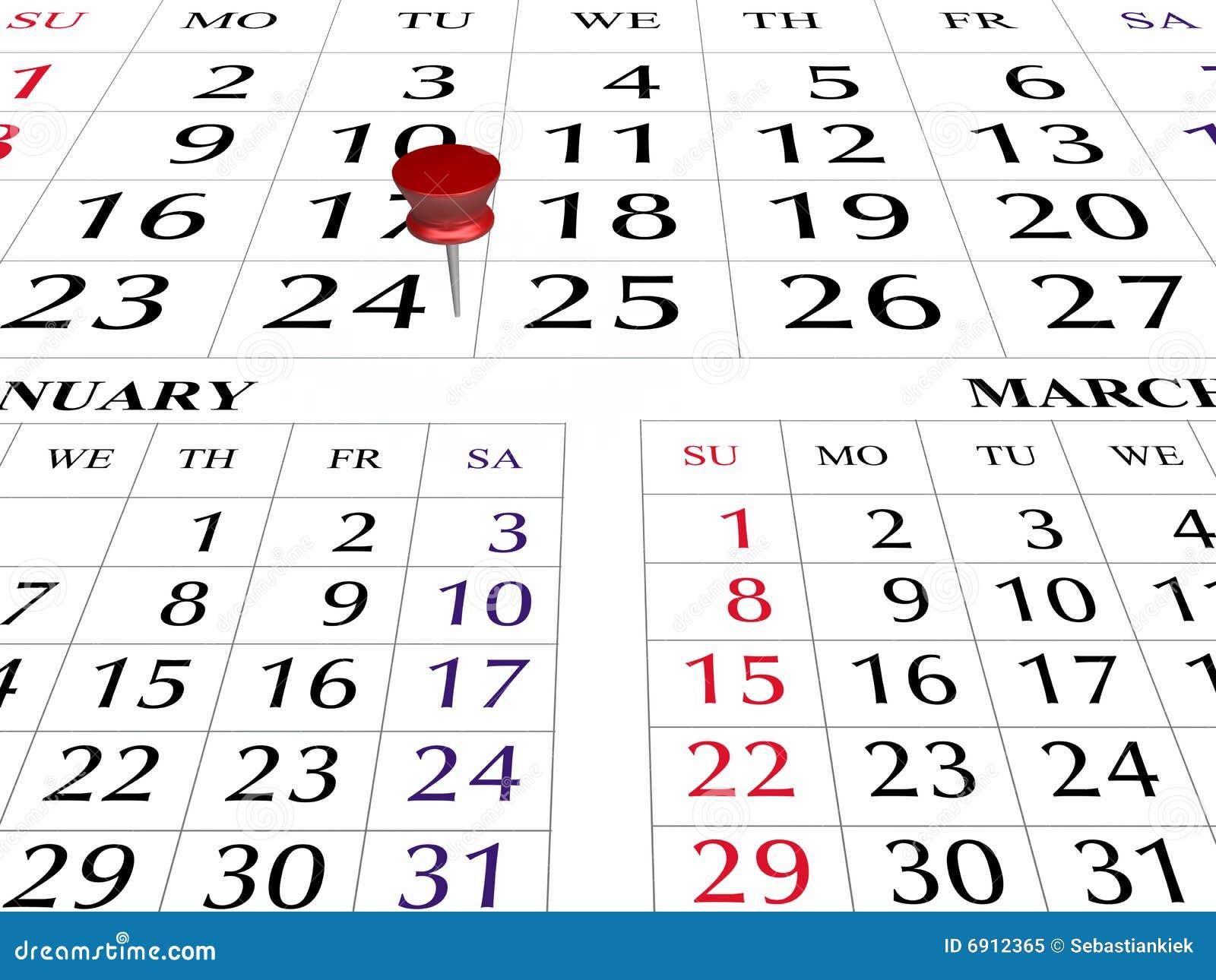 Página do calendário 2009