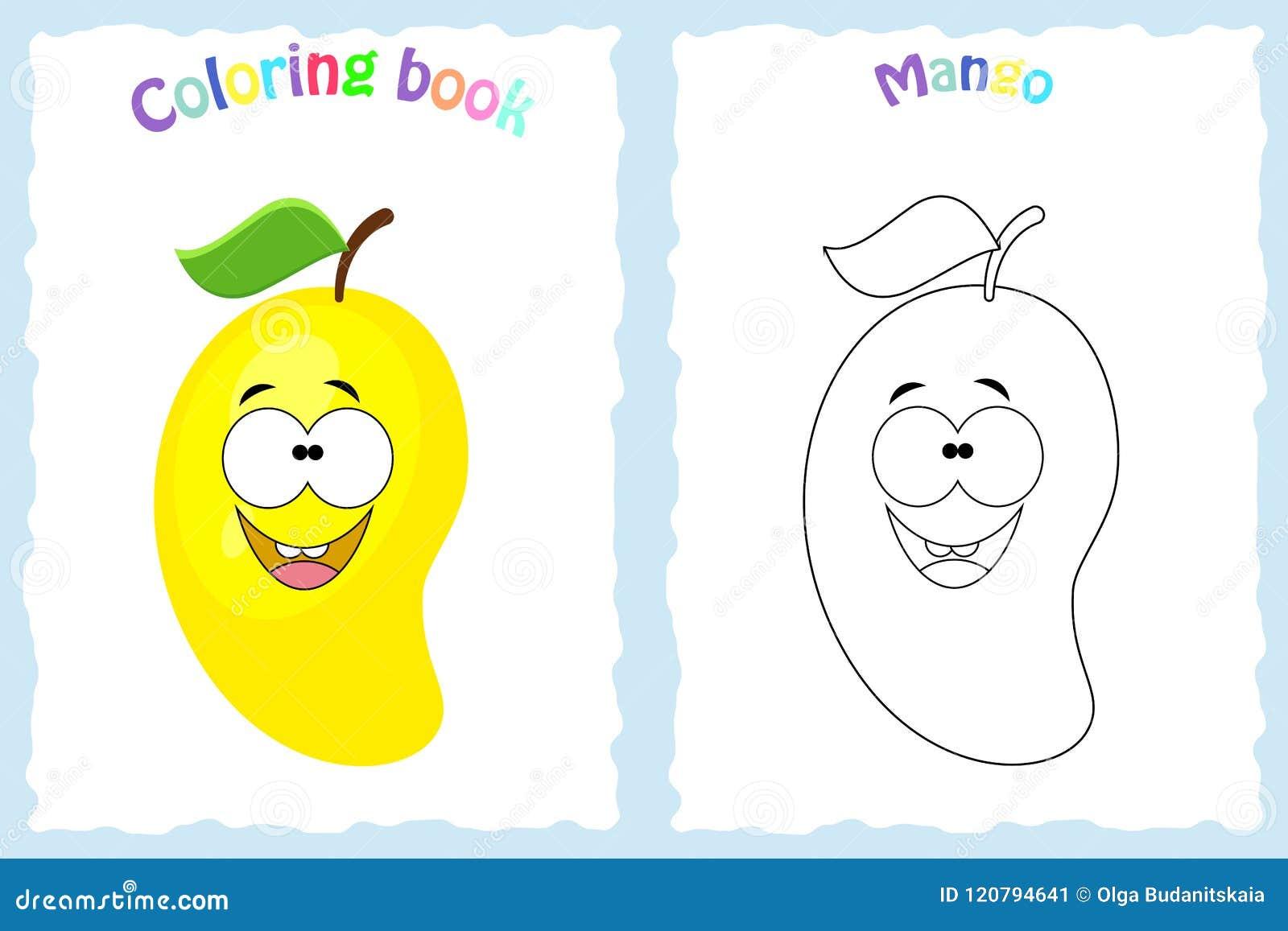 Pagina Do Livro Para Colorir Para Criancas Com Manga Colorida E