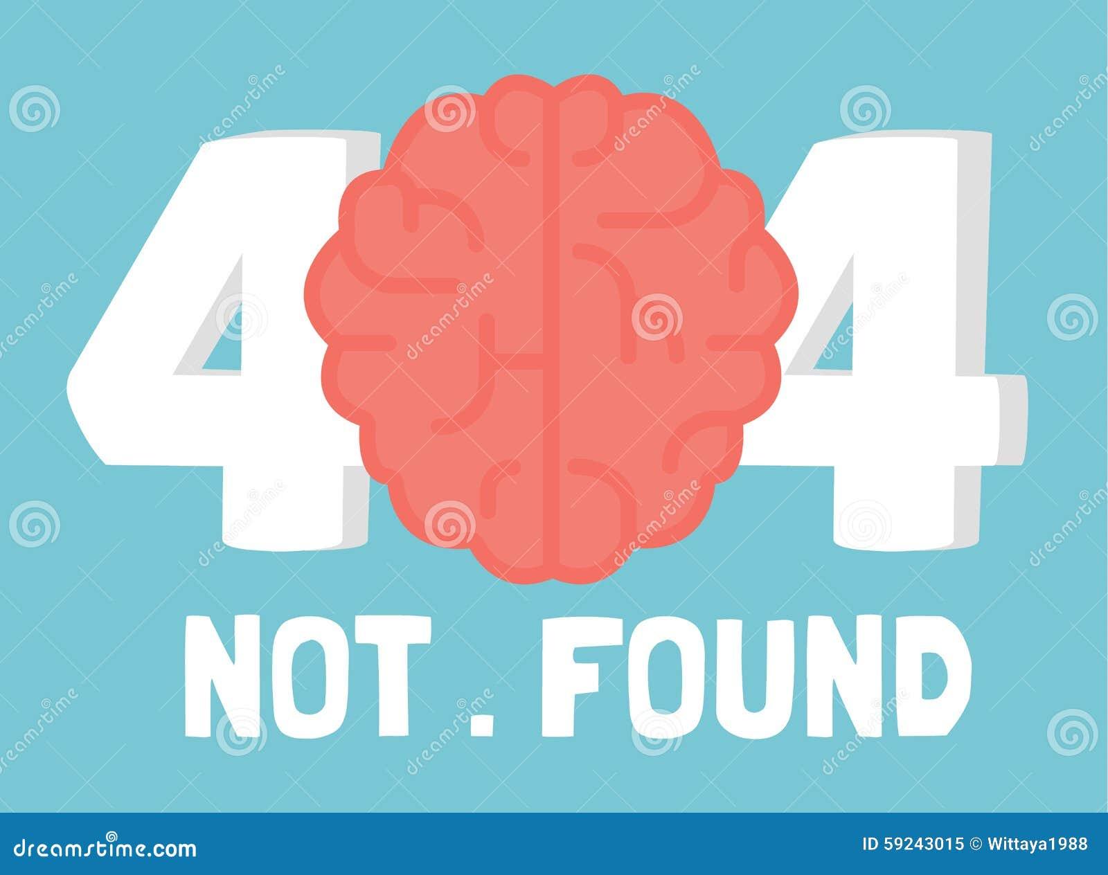Página error de no 404 cerebros