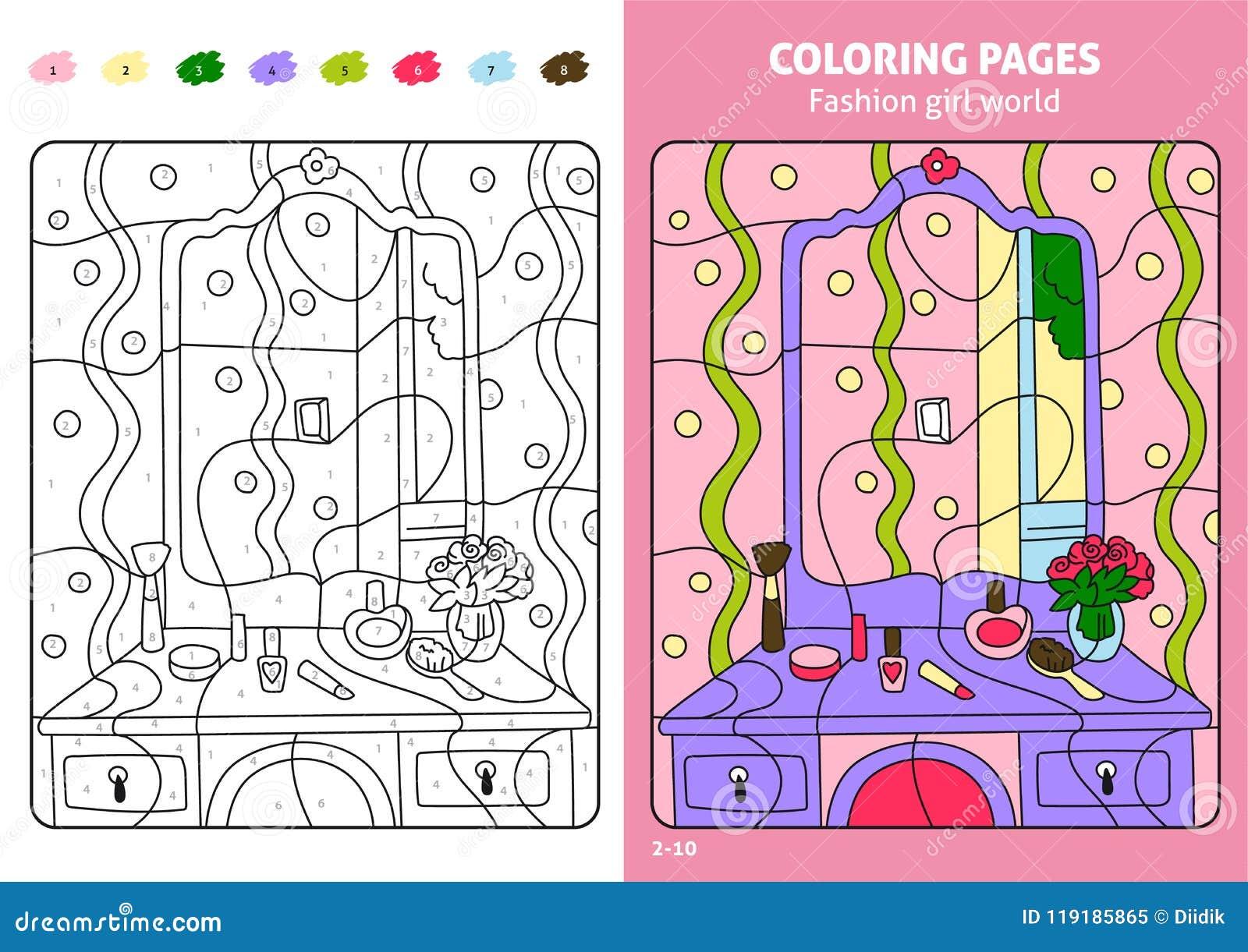Página Para Los Niños, Maquillaje Del Colorante Del Mundo De La ...