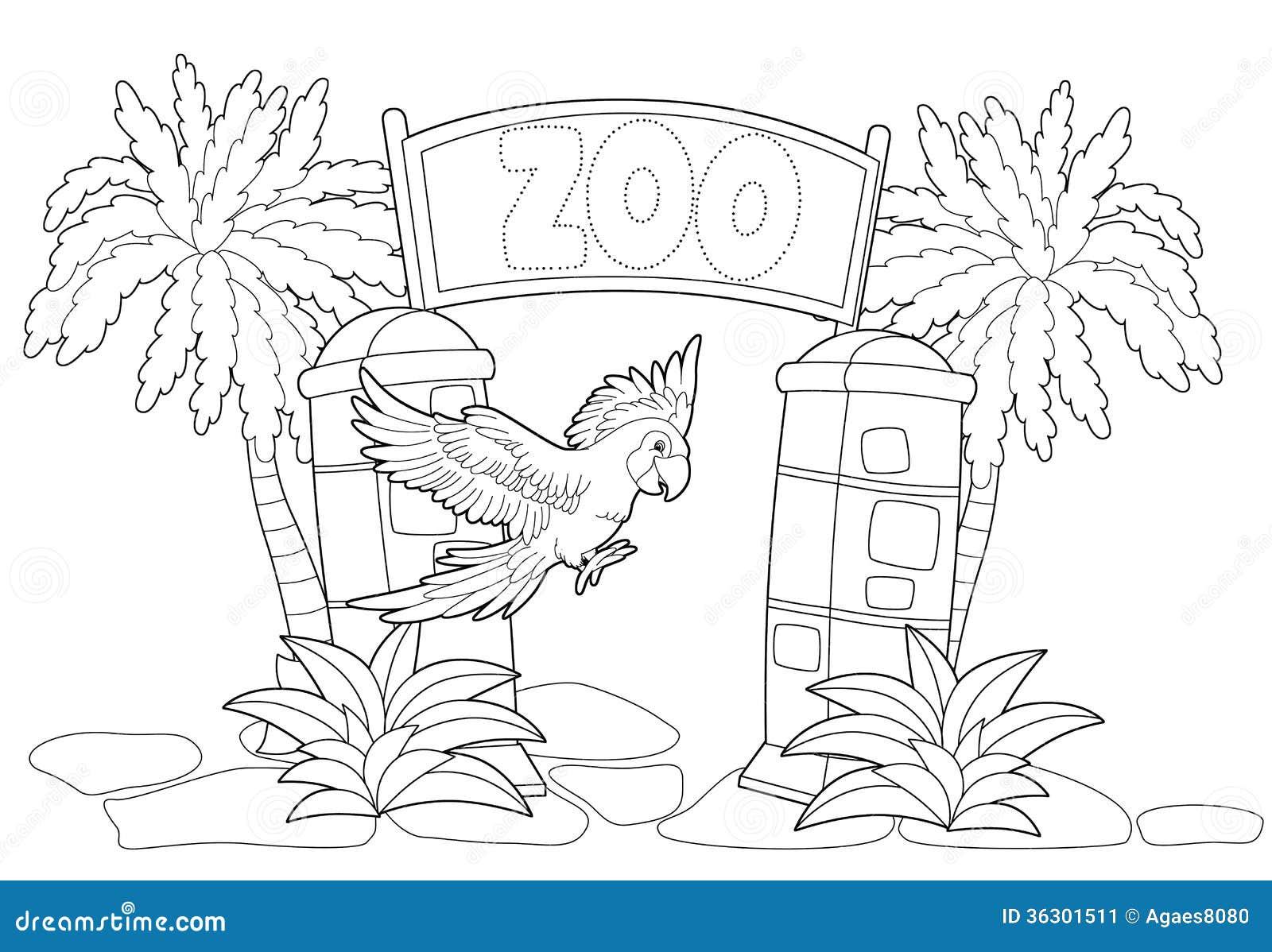 Pagina Para Colorear De Zoo: El Parque Zoológico