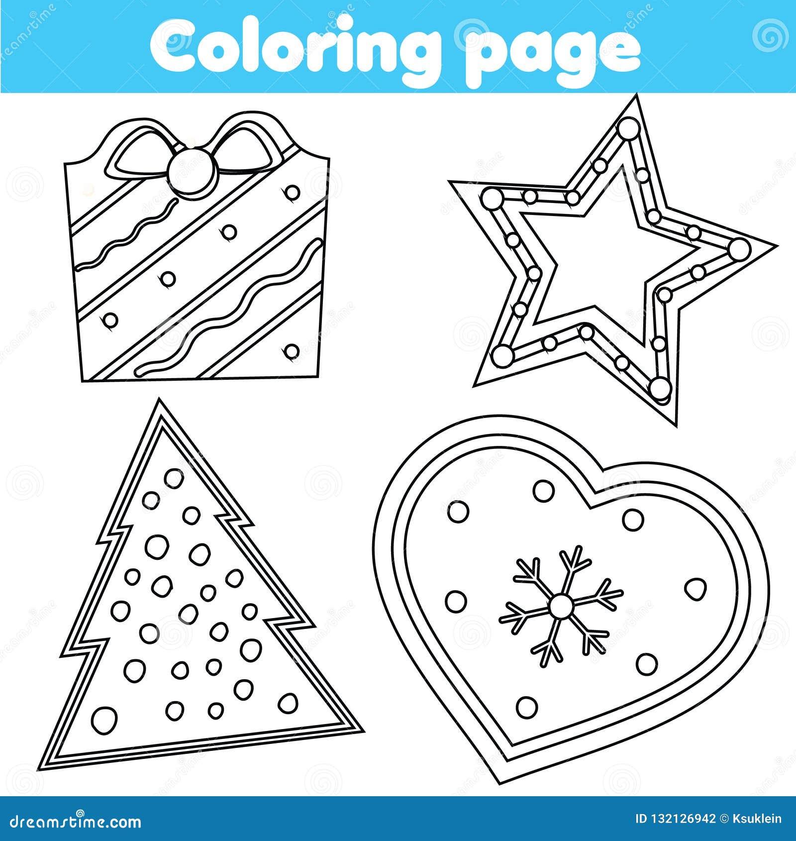 Página Que Colorea Juego Educativo Para Los Niños Galletas De La