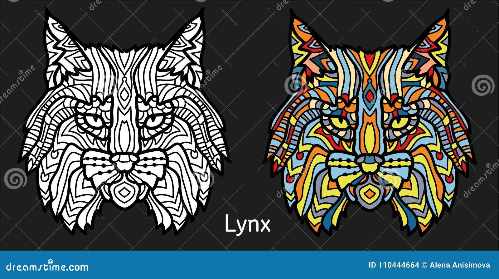 Página Colorea Para Que Adultos Los Dibujado Lince Mano Animal jLqUVGSzMp