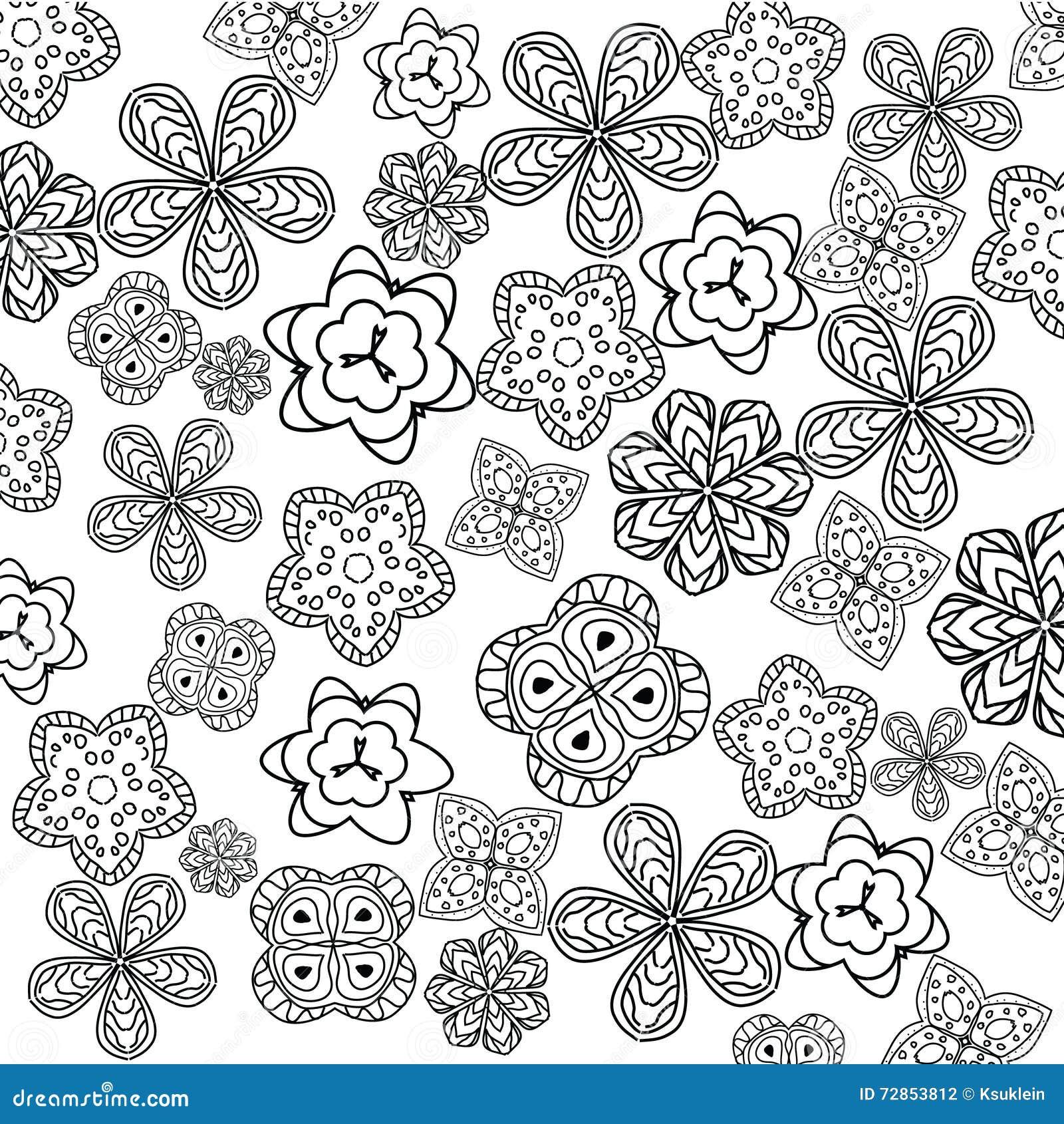 Página Relajante Del Colorante Con Las Flores Para Los Niños Y Los ...