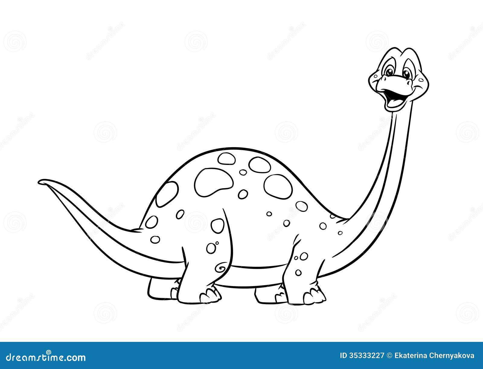 Páginas da coloração do diplodocus do dinossauro