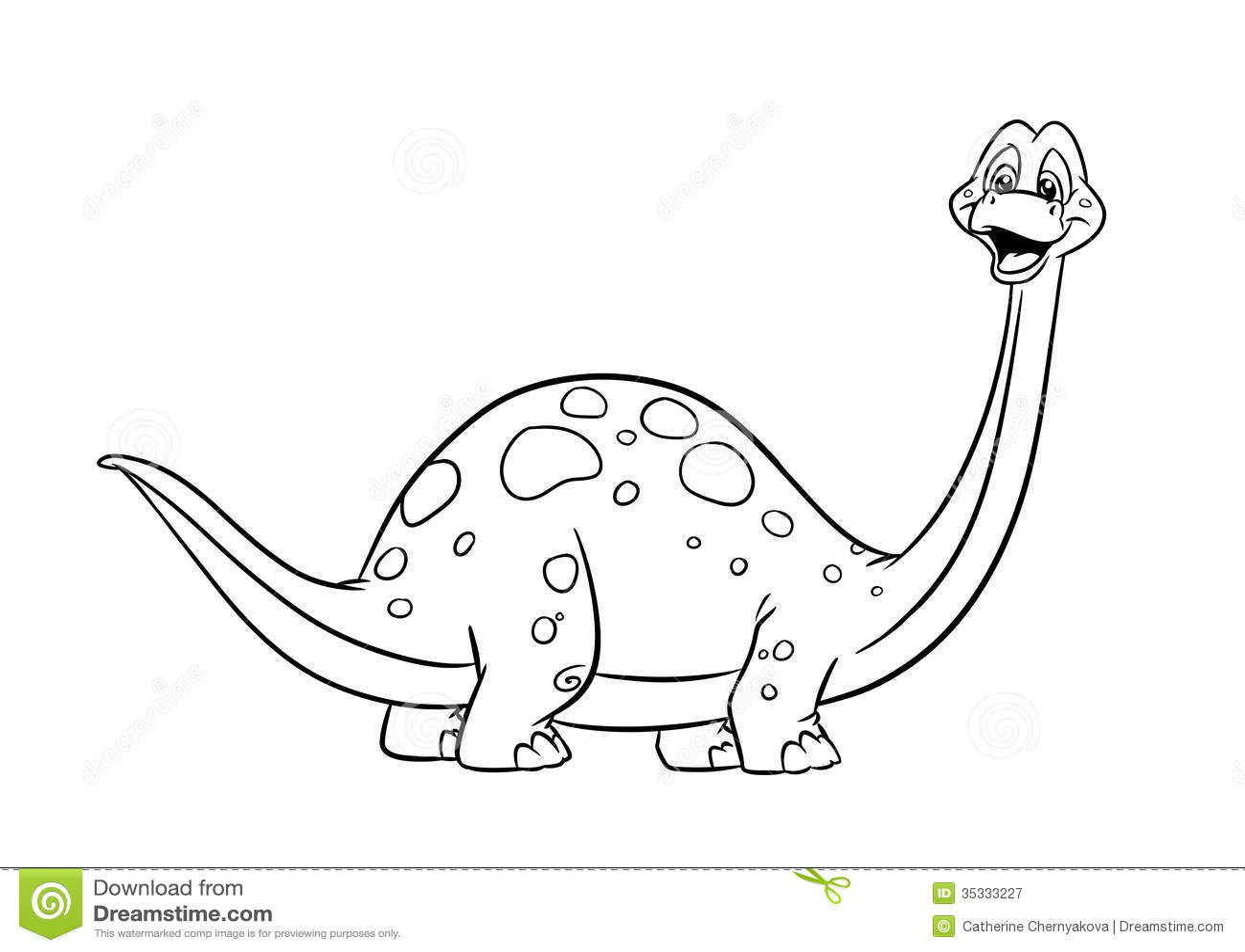 Páginas del colorante del diplodocus del dinosaurio