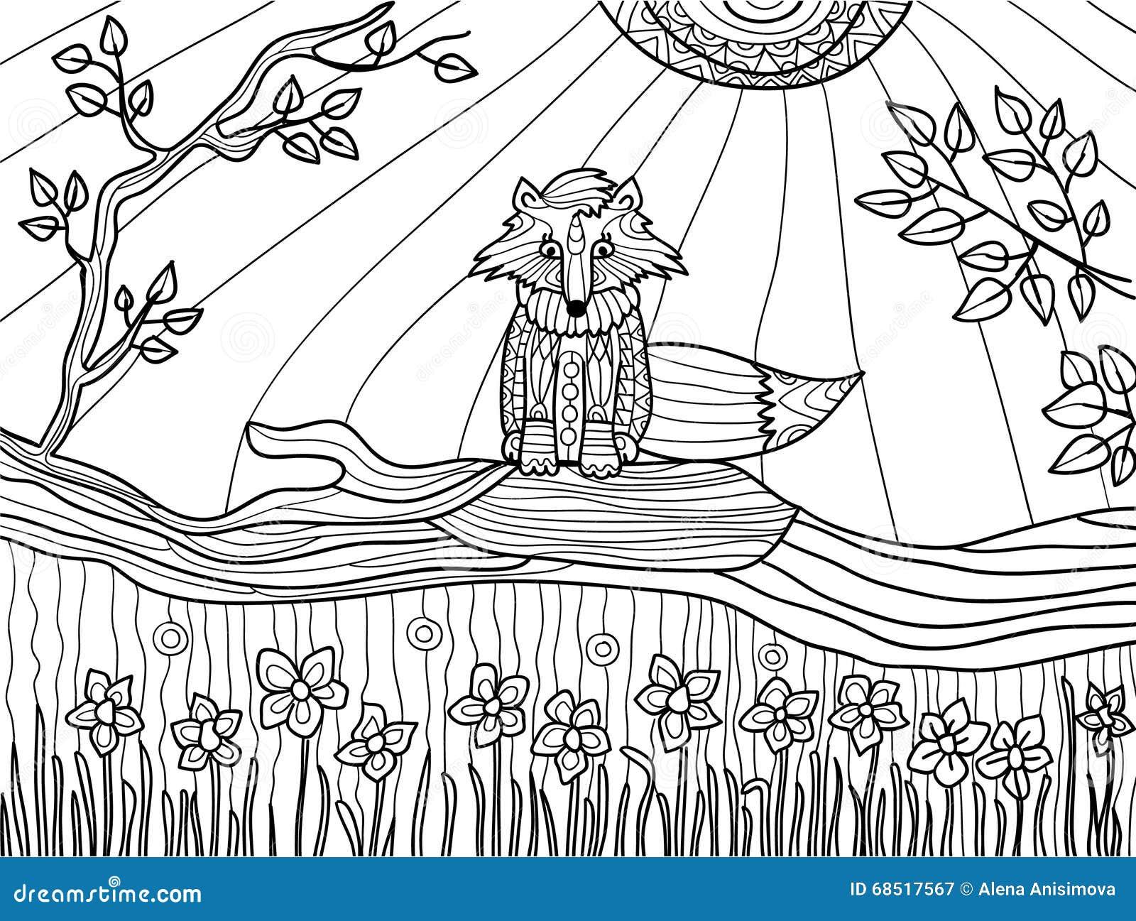 Páginas Del Libro De Colorear Para Los Adultos: Cachorro Divertido ...