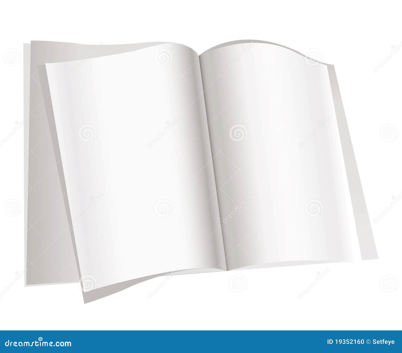 Páginas do compartimento no fundo branco