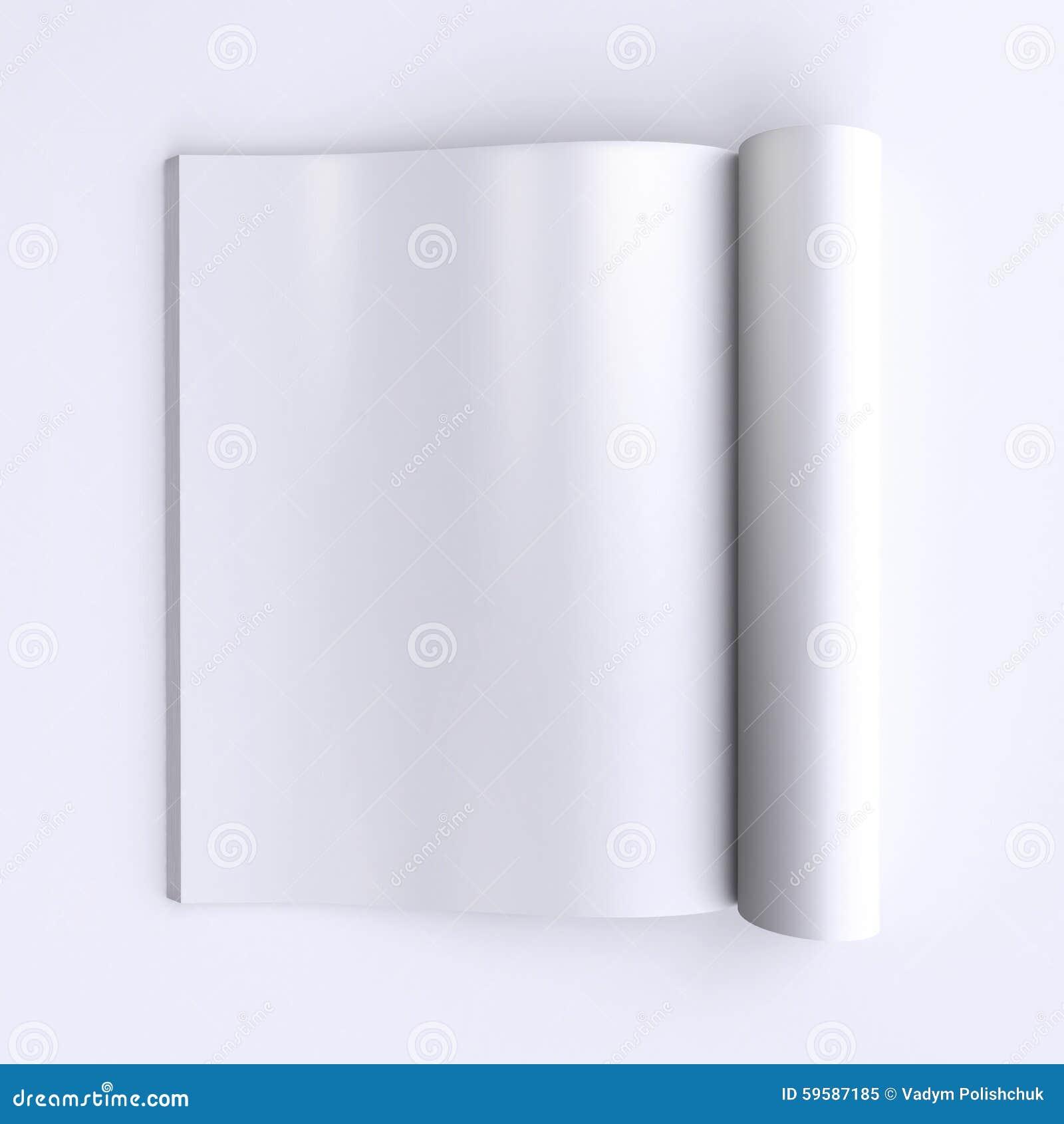 Páginas En Blanco De La Plantilla De Un Diario Abierto, De ...