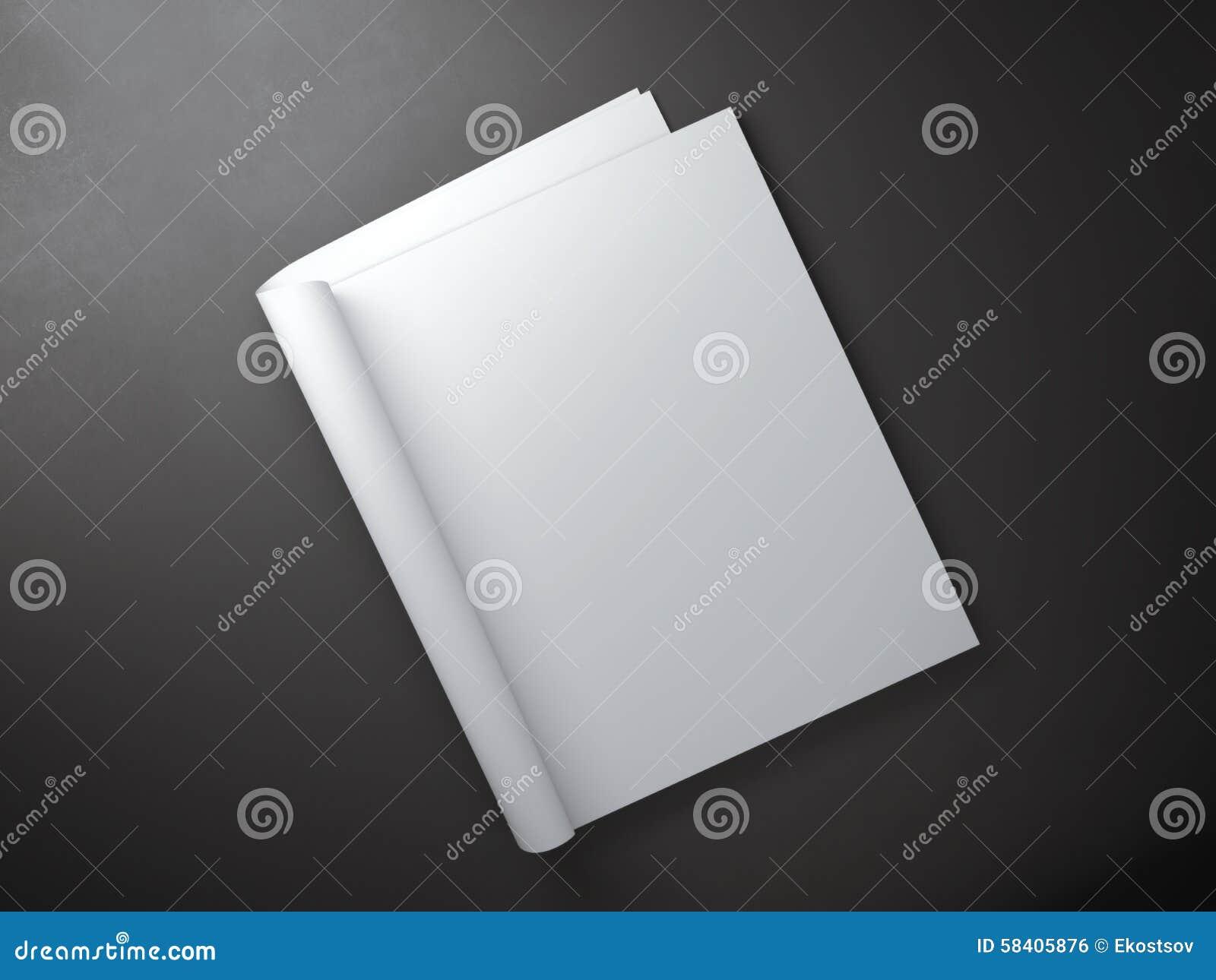 Páginas vazias dentro do compartimento do jornal