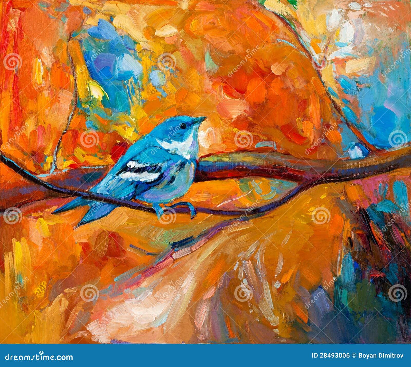 Pájaro cerúleo azul de la curruca