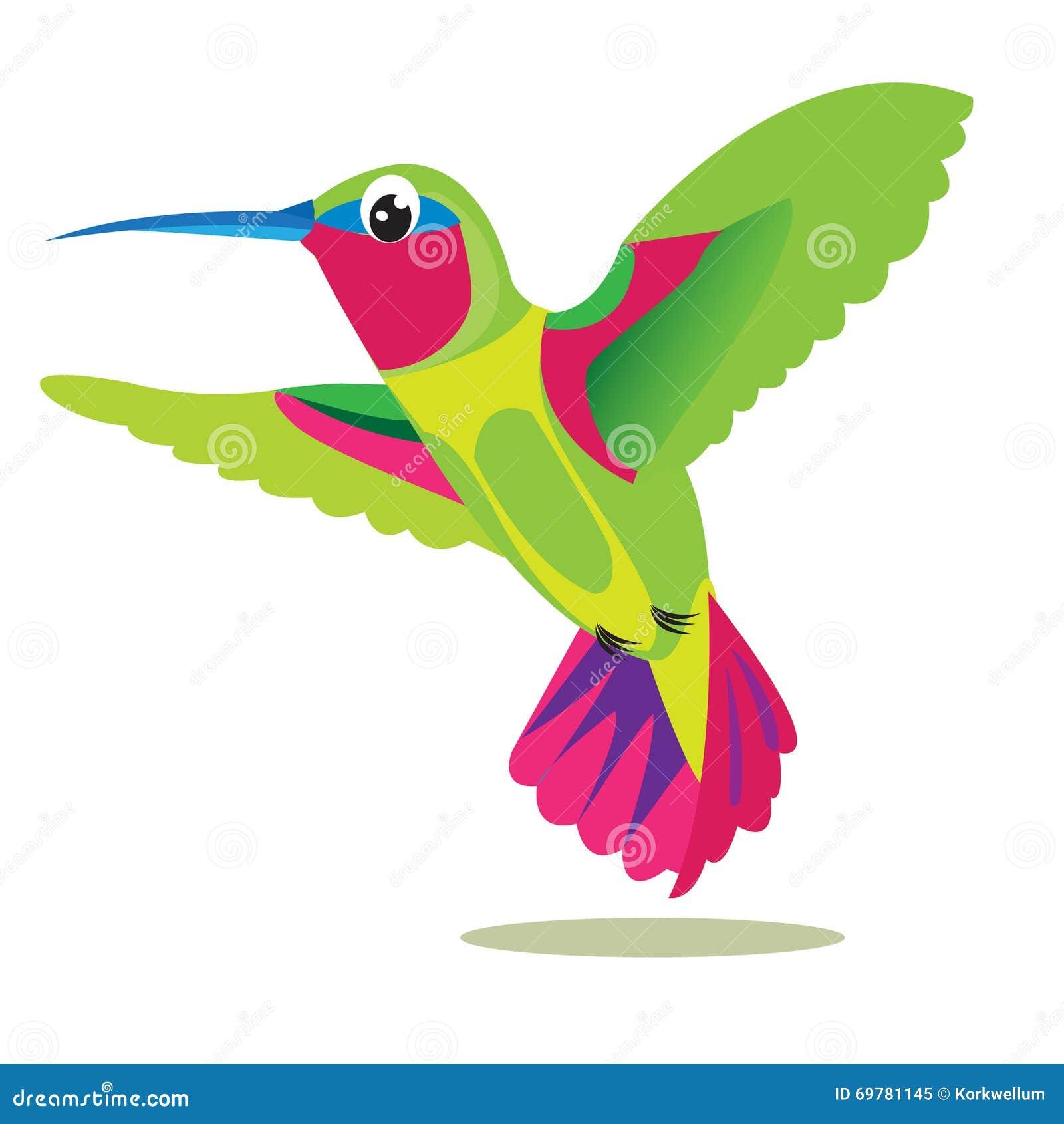Pájaro De Colibri Pequeño Pájaro Coloreado En Un Fondo Blanco Cuadro ...