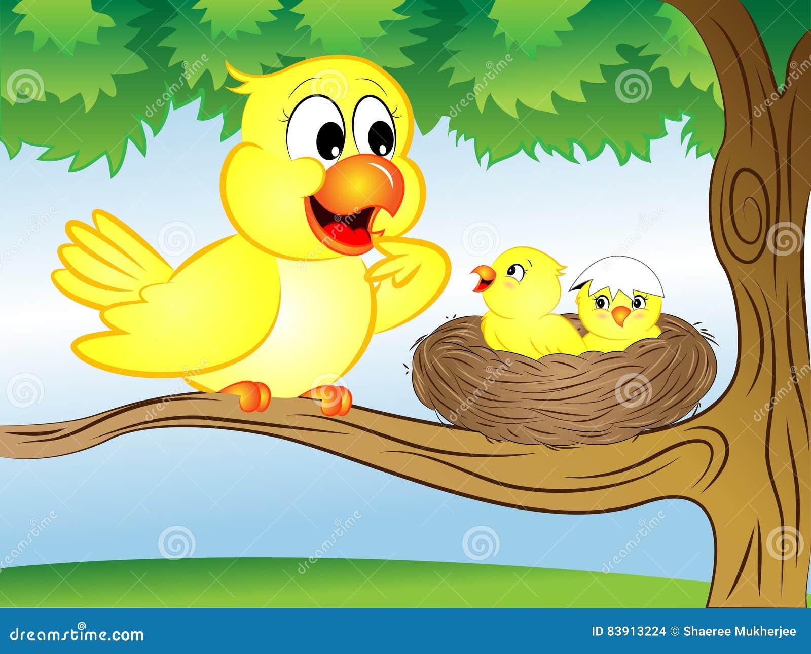 Pájaro de la historieta con la jerarquía