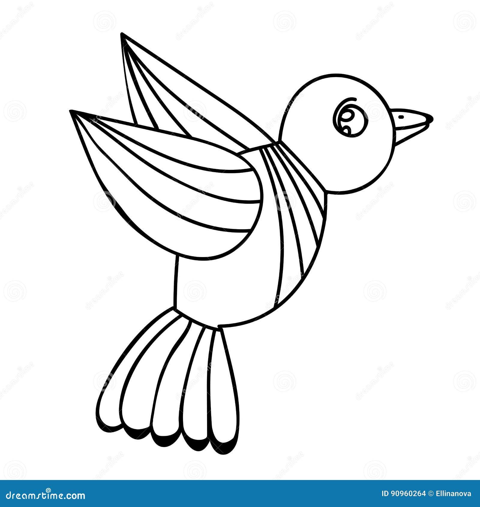 Dorable Libro Para Colorear Pájaro Viñeta - Enmarcado Para Colorear ...