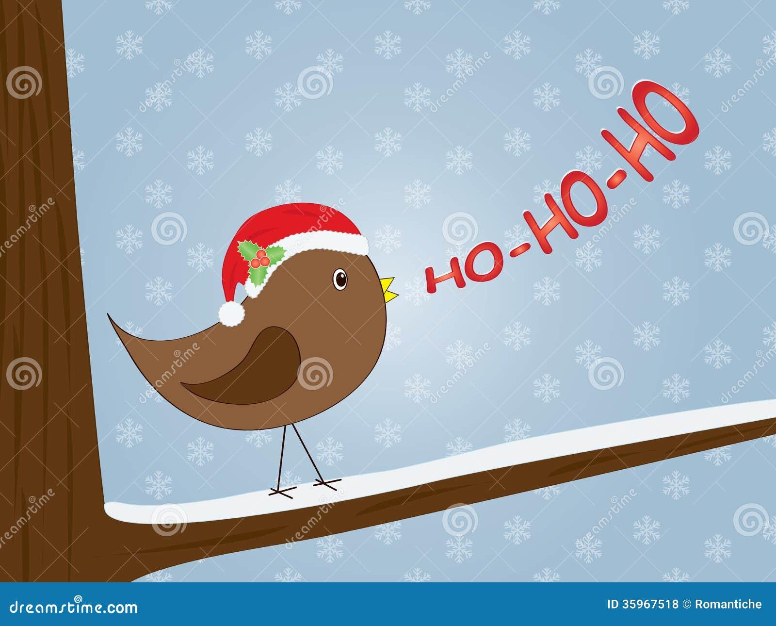 Pájaro que canta ho-ho-ho