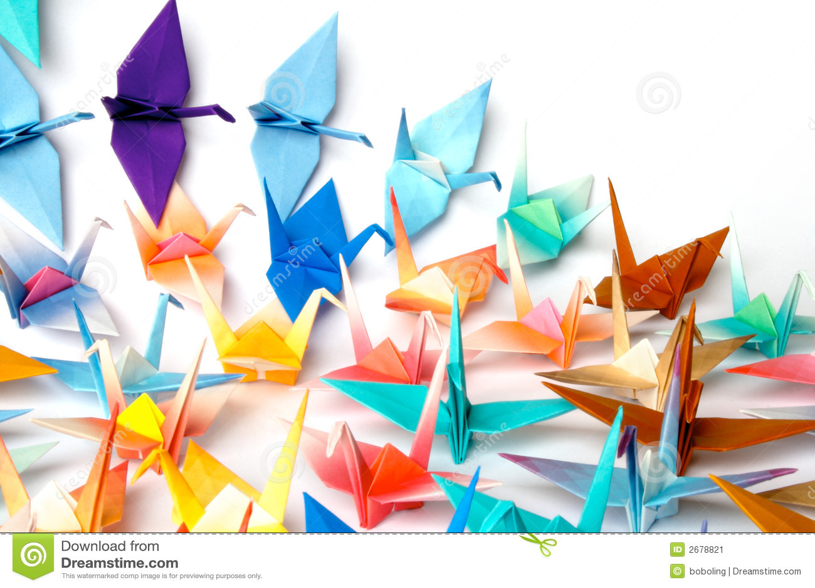 Pájaros de Origami