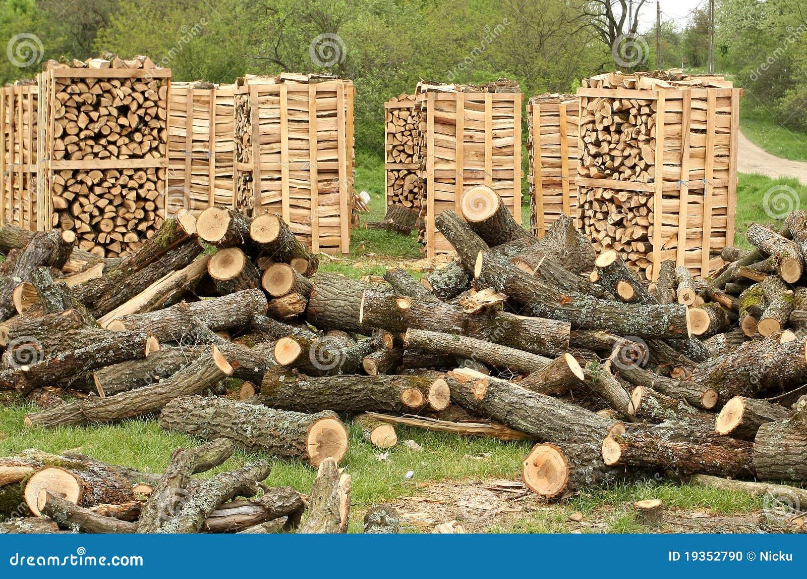 Páletes da madeira do incêndio