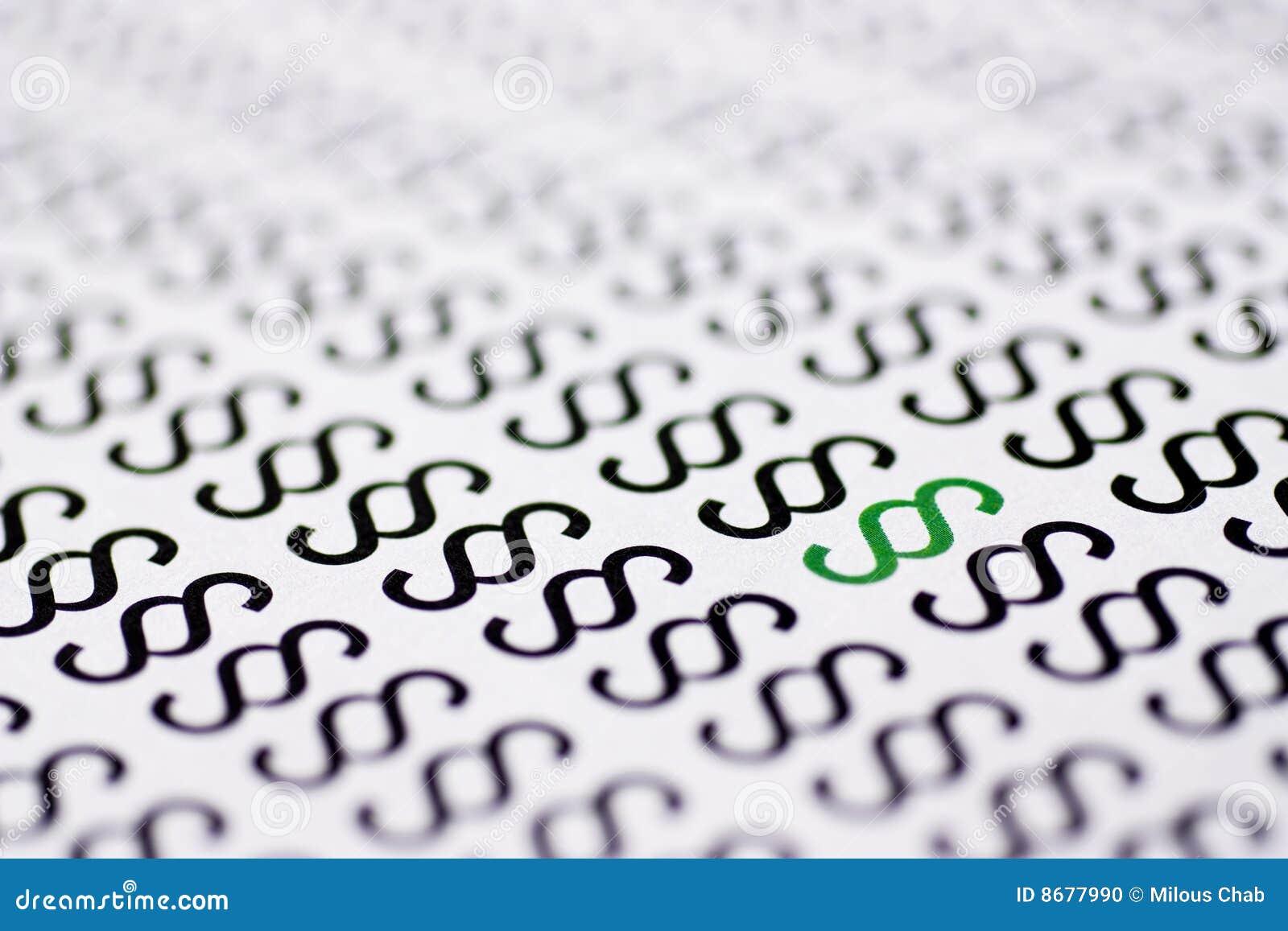 Párrafo verde